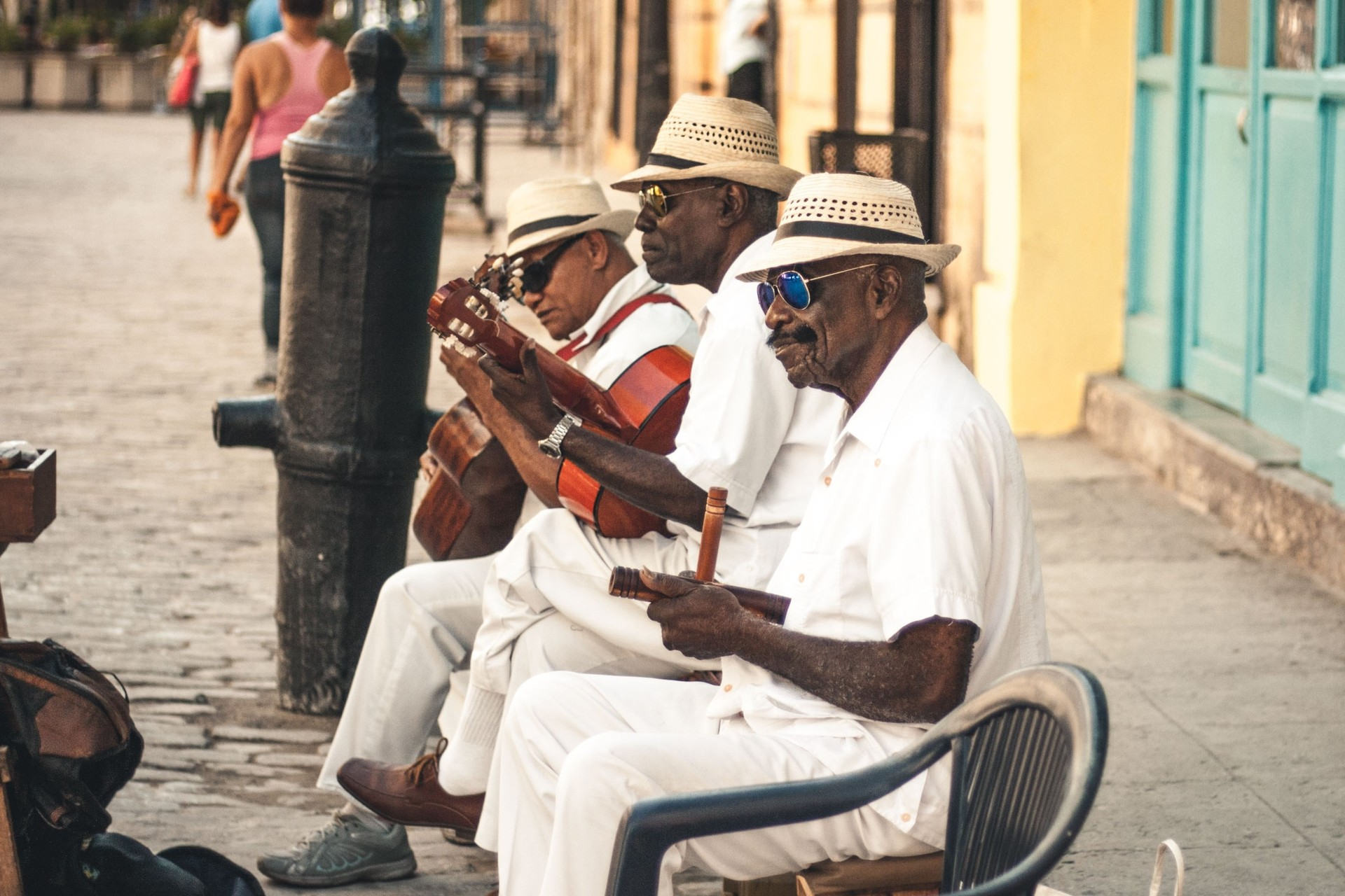 Cuban musicians Havana