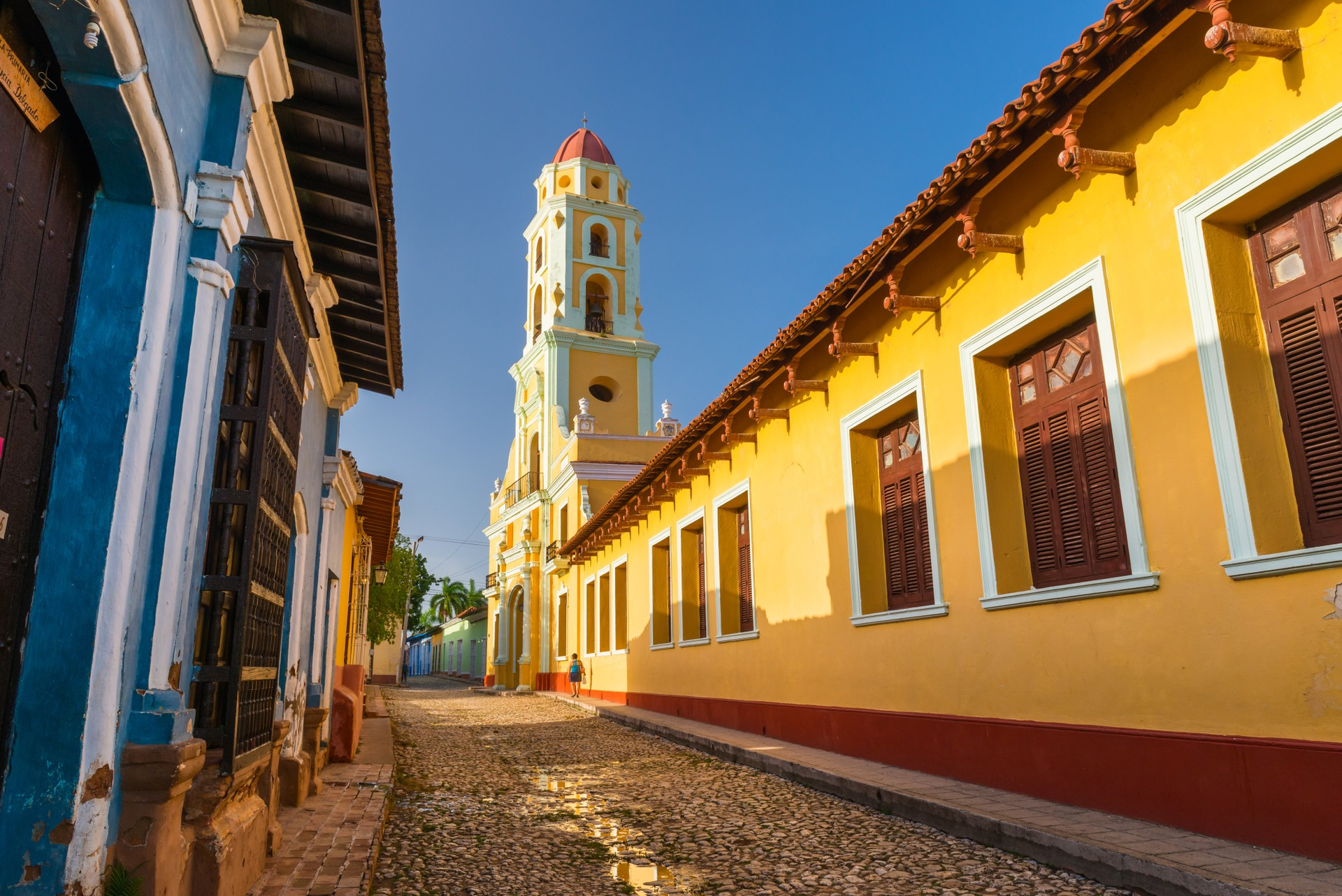 The pretty colonial buildings of Trinidad, Cuba