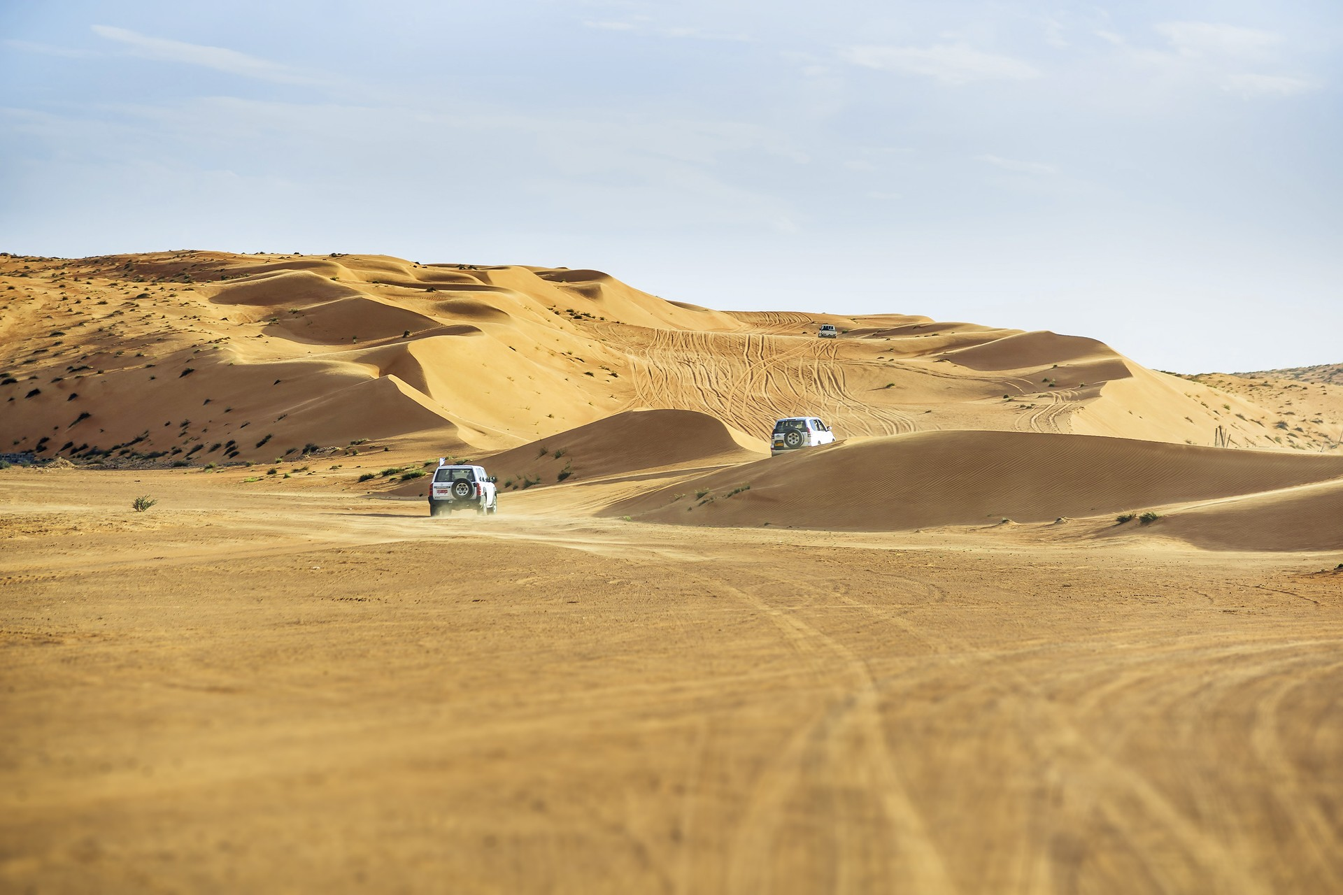 4x4s in Wahiba Sands Oman