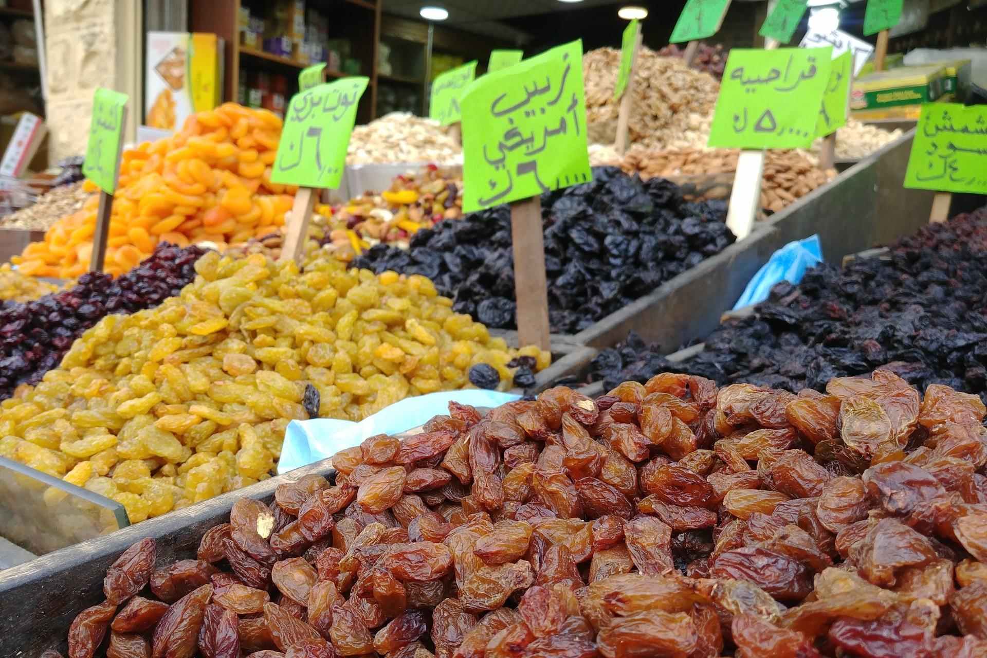 Dried fruits in Amman, Jordan