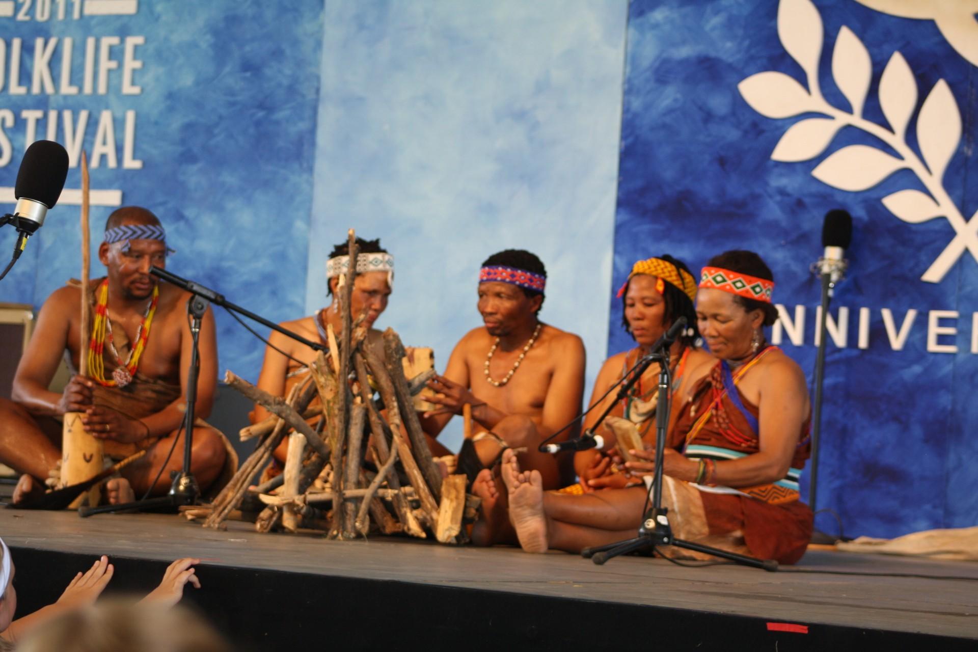 San musicians in Botswana