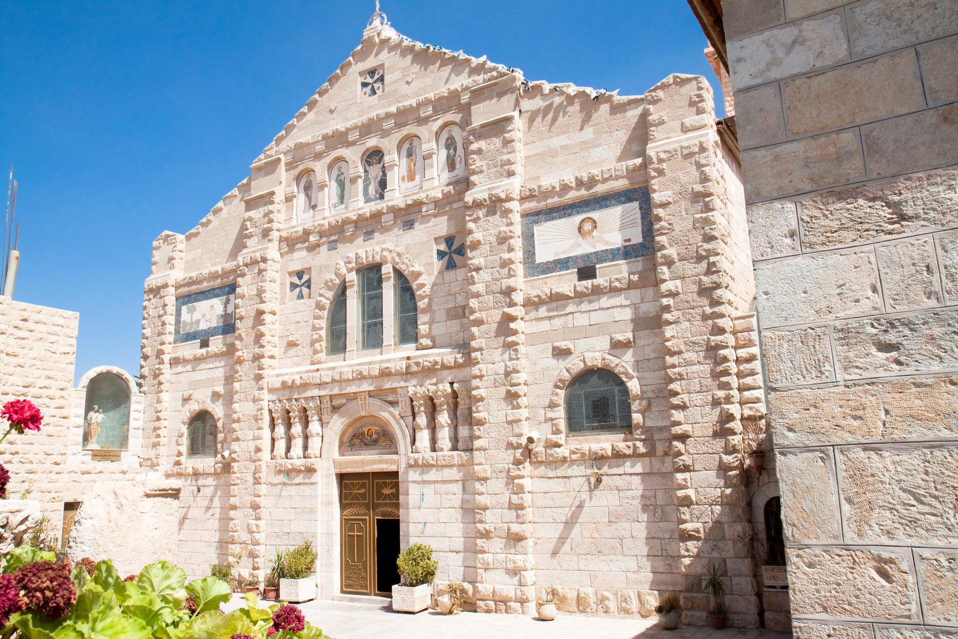 Catholic Church Of St.John the Baptist in Madaba, Jordan