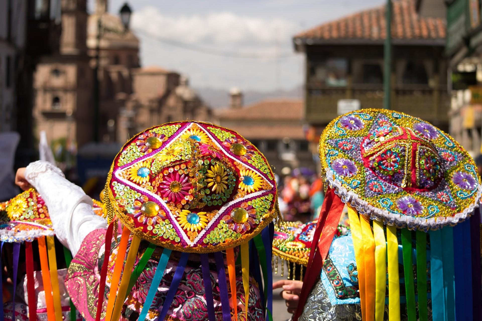 Colourful costumes in Cusco, Peru