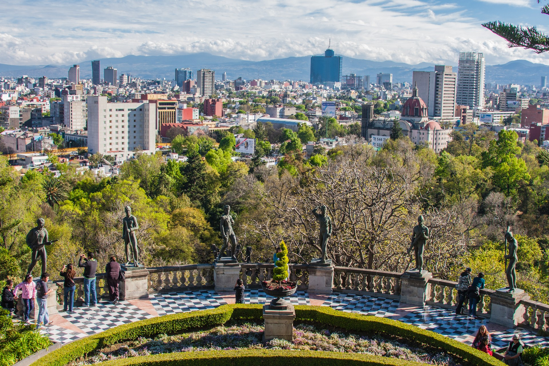 Mexico City from Chapultepec Park