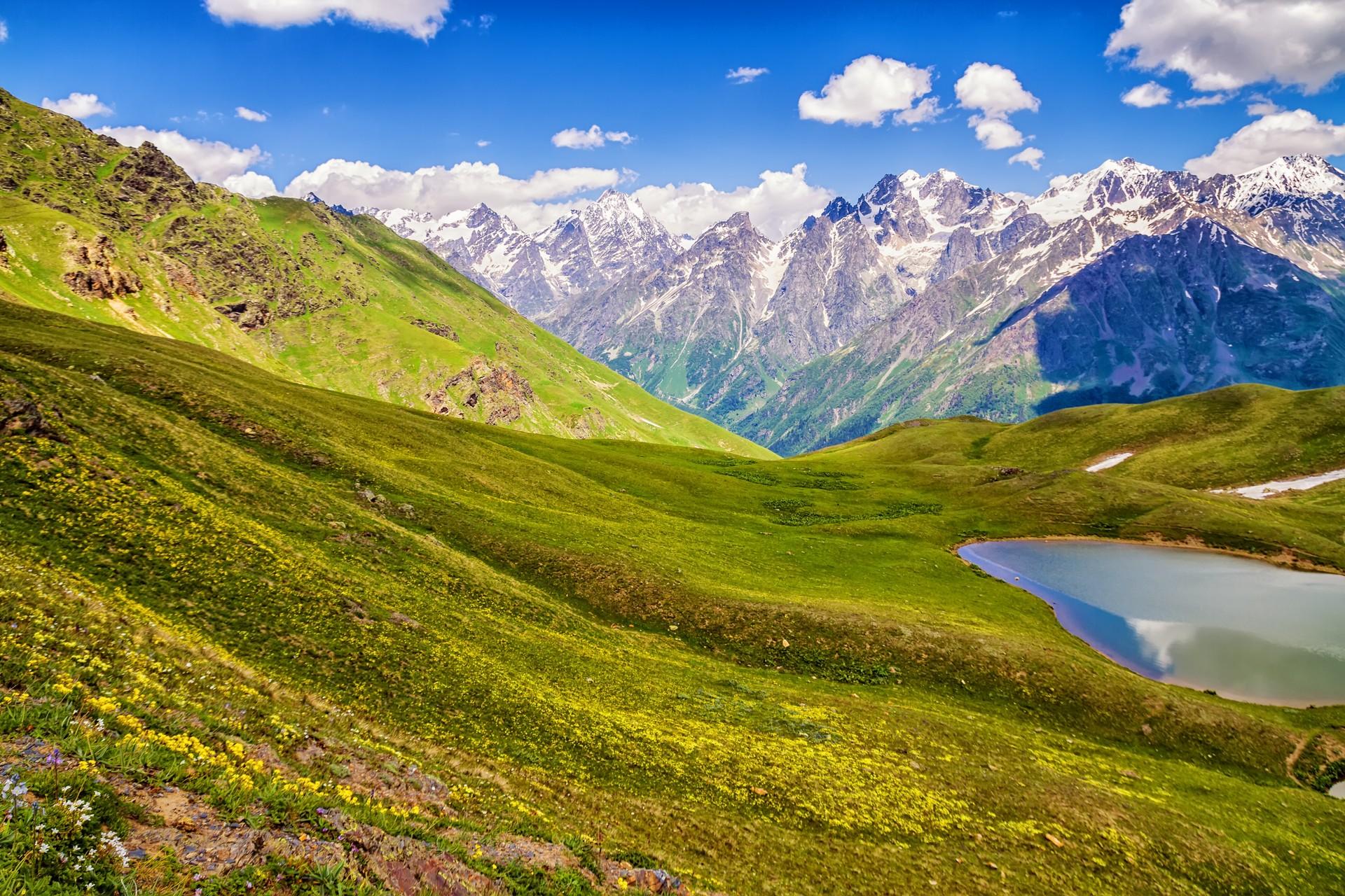 The Koruldi Lakes just outside of Mestia