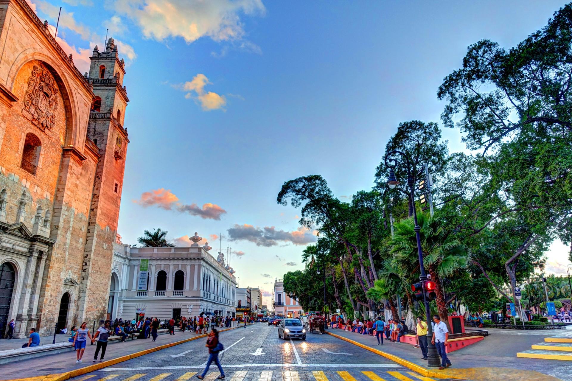 The centre of Mérida in Mexico