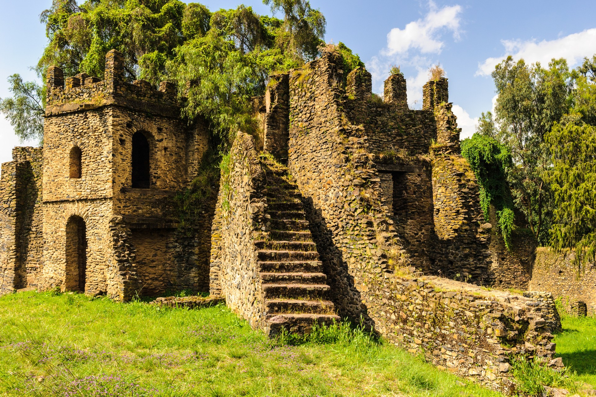 Gondar in Ethiopia is covered in crumbling castles and churches