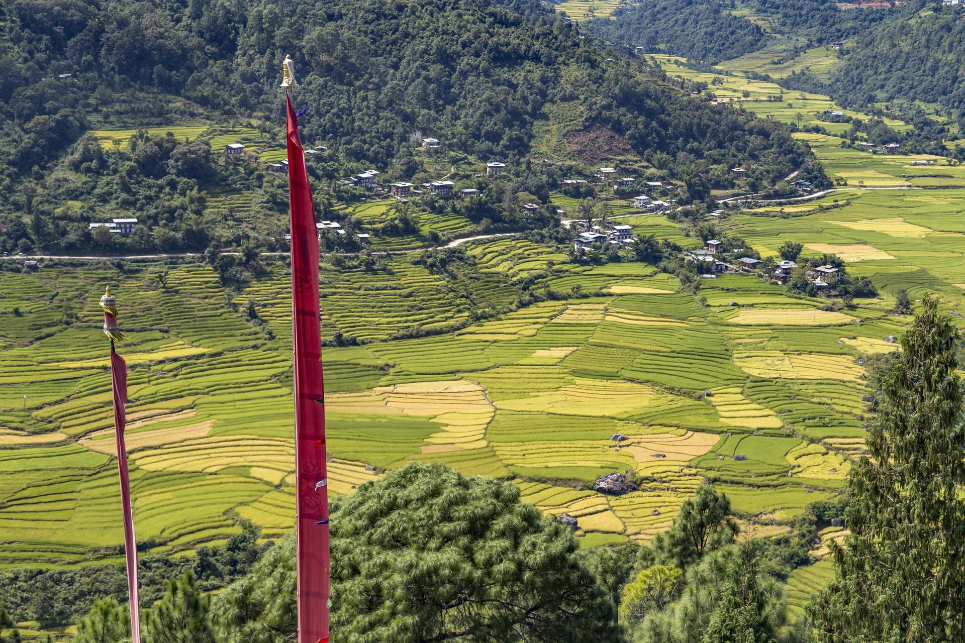 Bumthang Valley landscape Bhutan