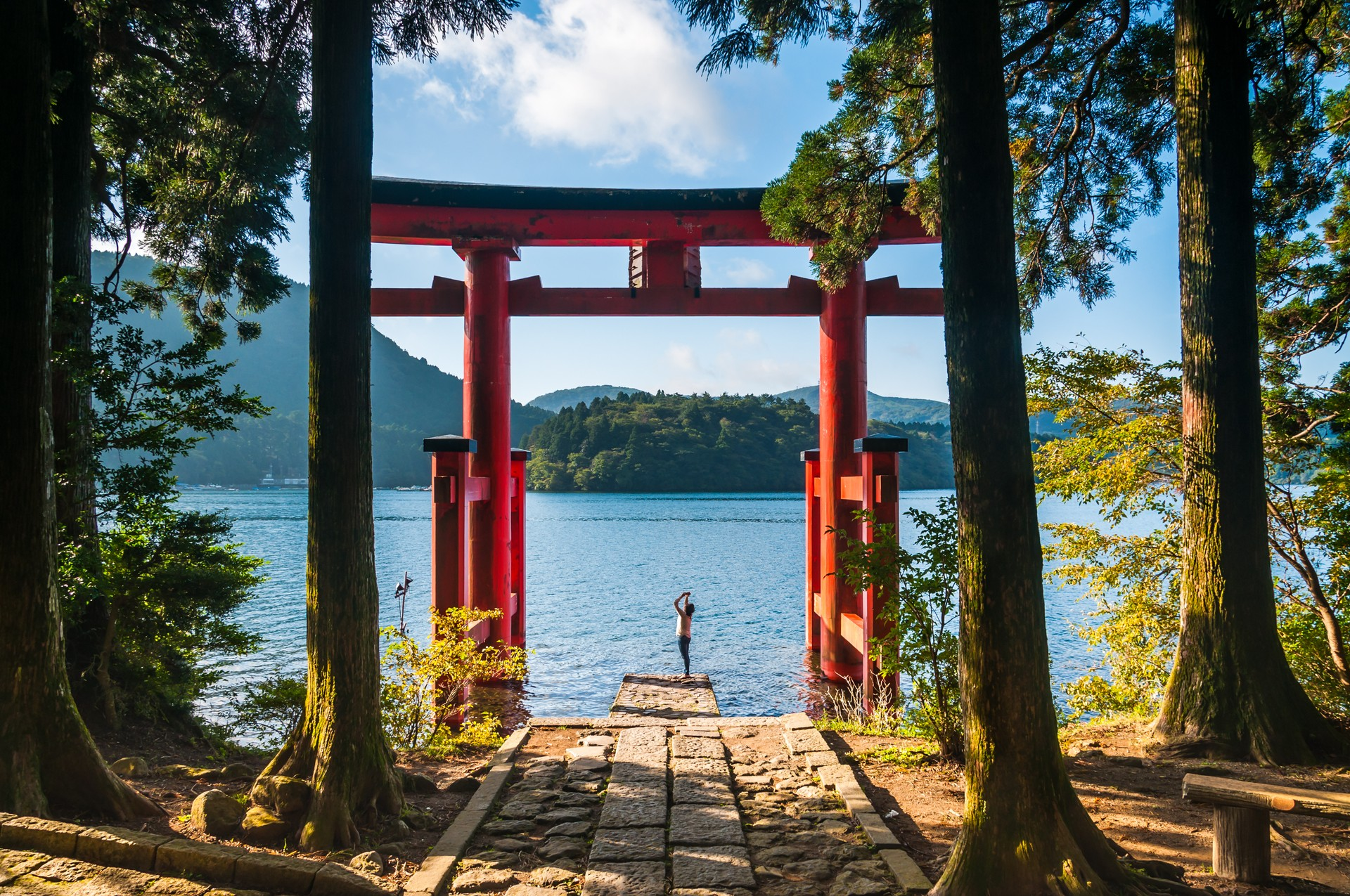 Torii Gate in Hakone National Park