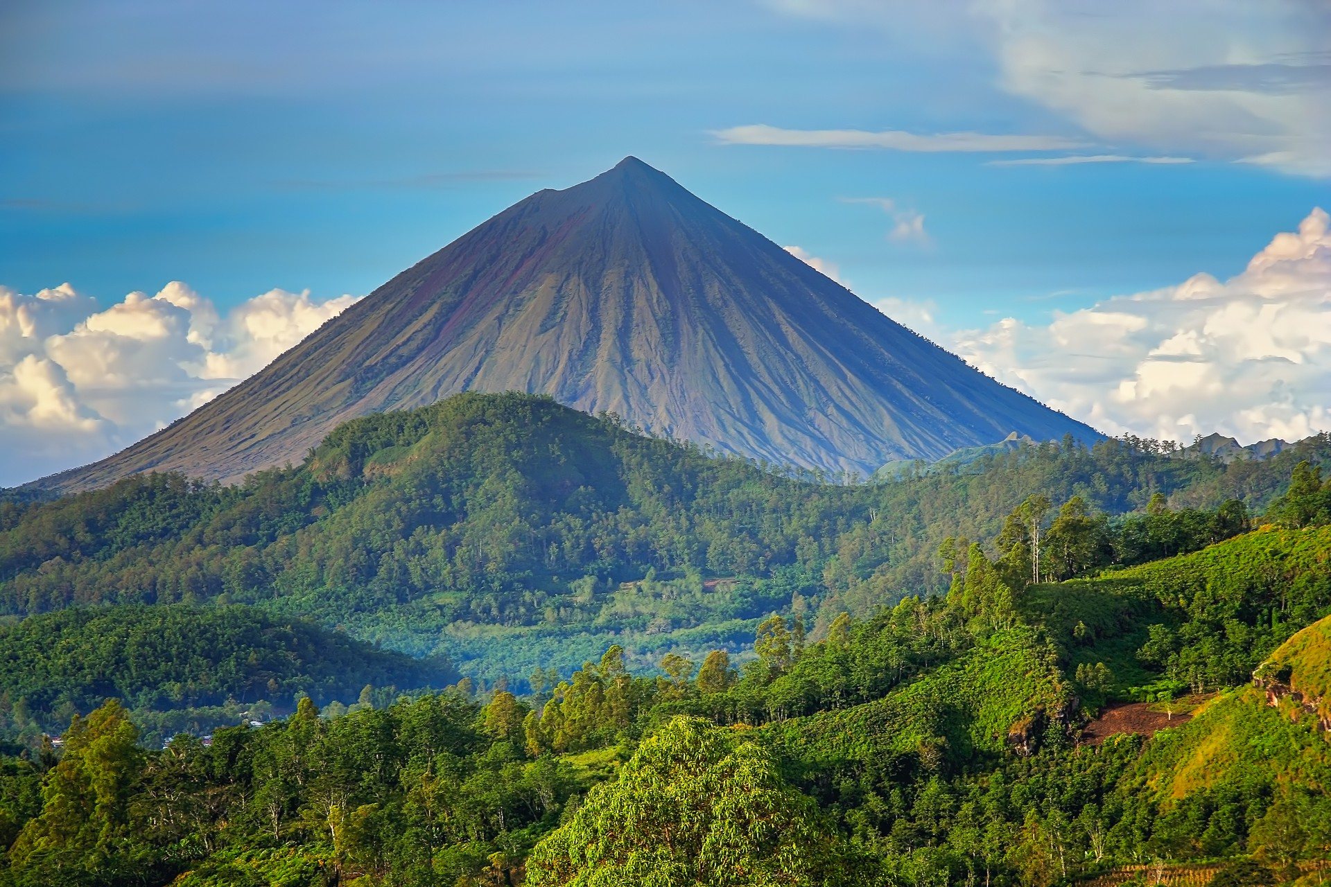 Volcano Mount Inarie on the Flores island, Indonesia