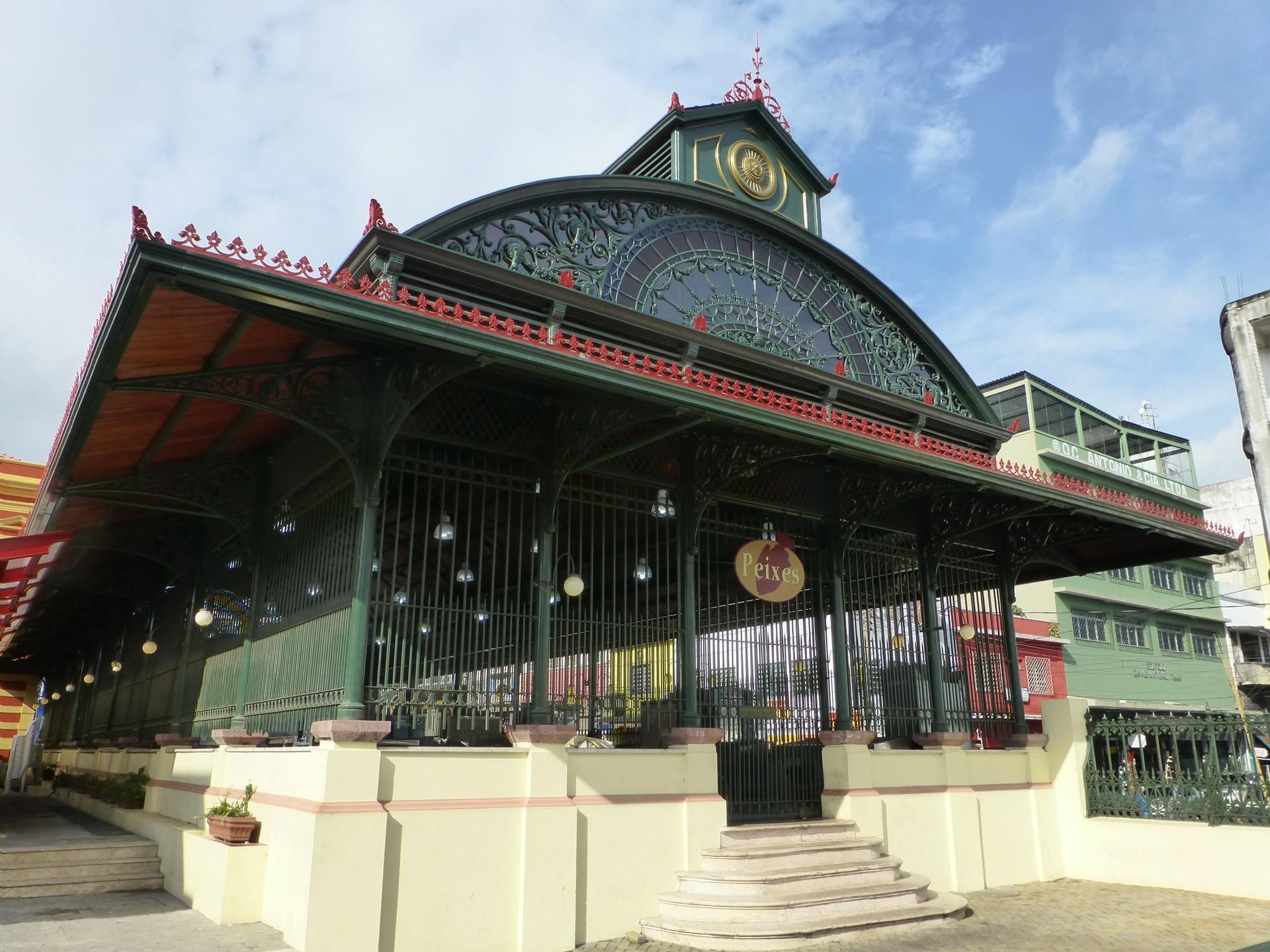 The entrance to Manaus' Mercado Municipal