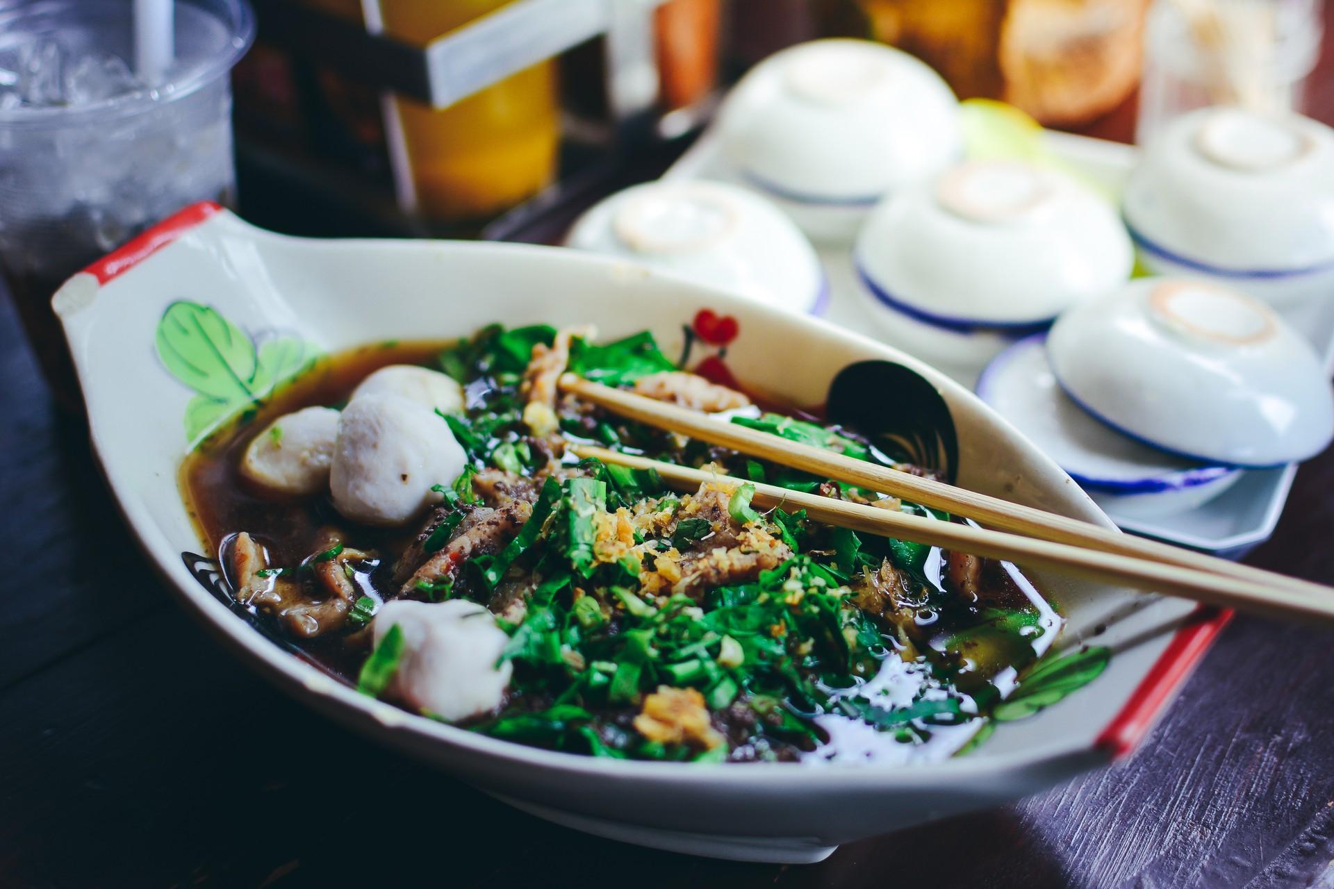 Boat noodles Thailand