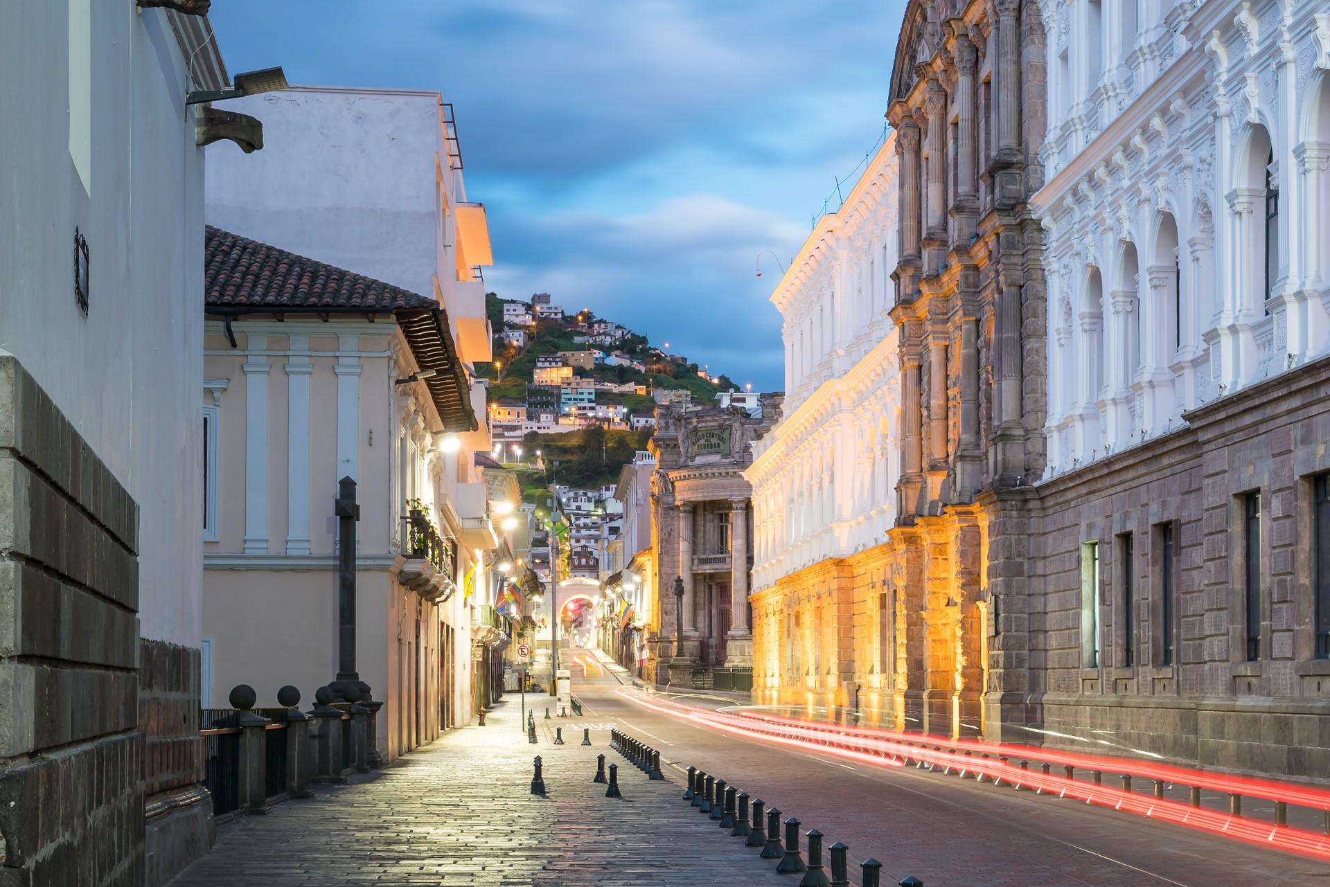 Quito Ecuador at night