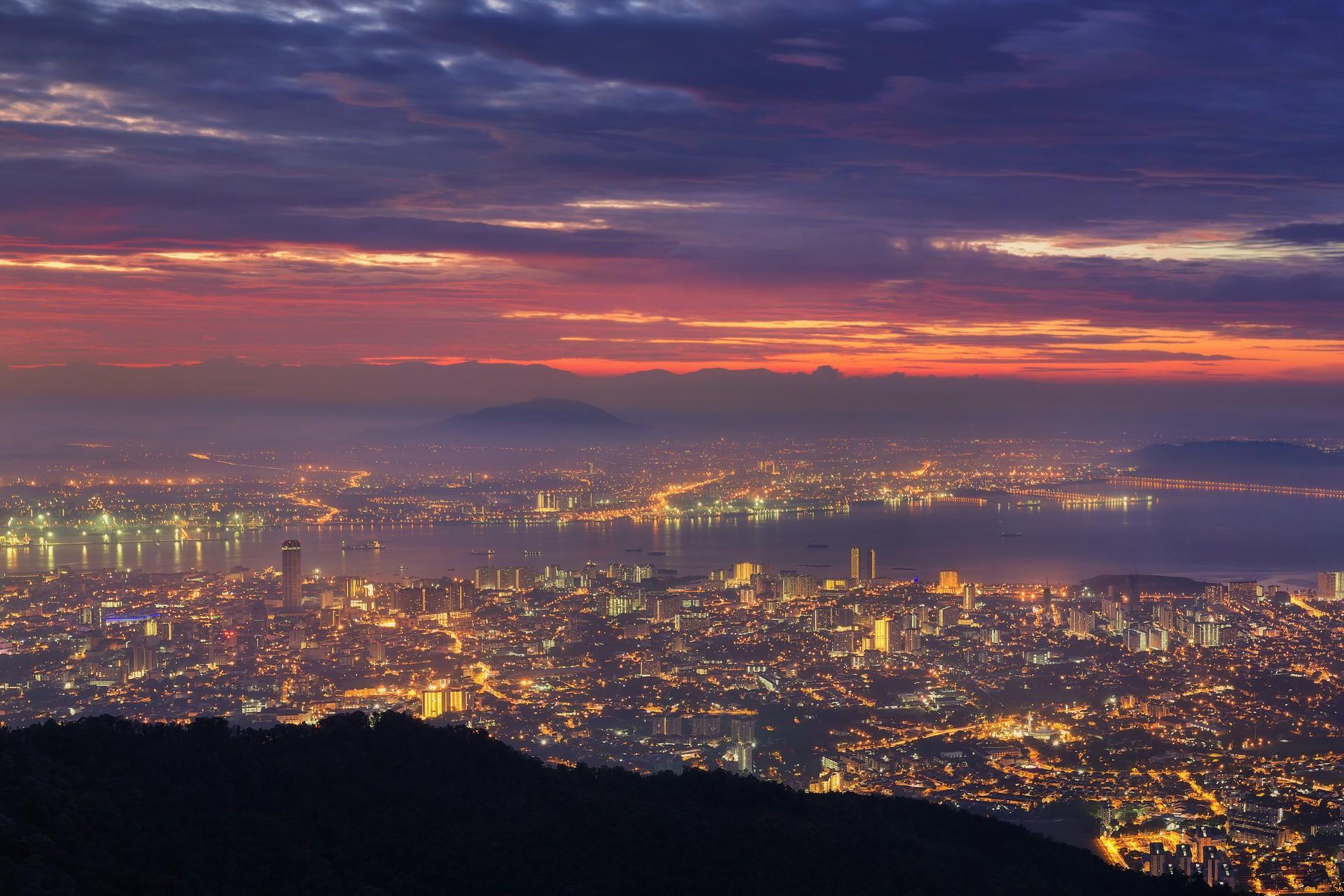 View from Penang Hill at dawn