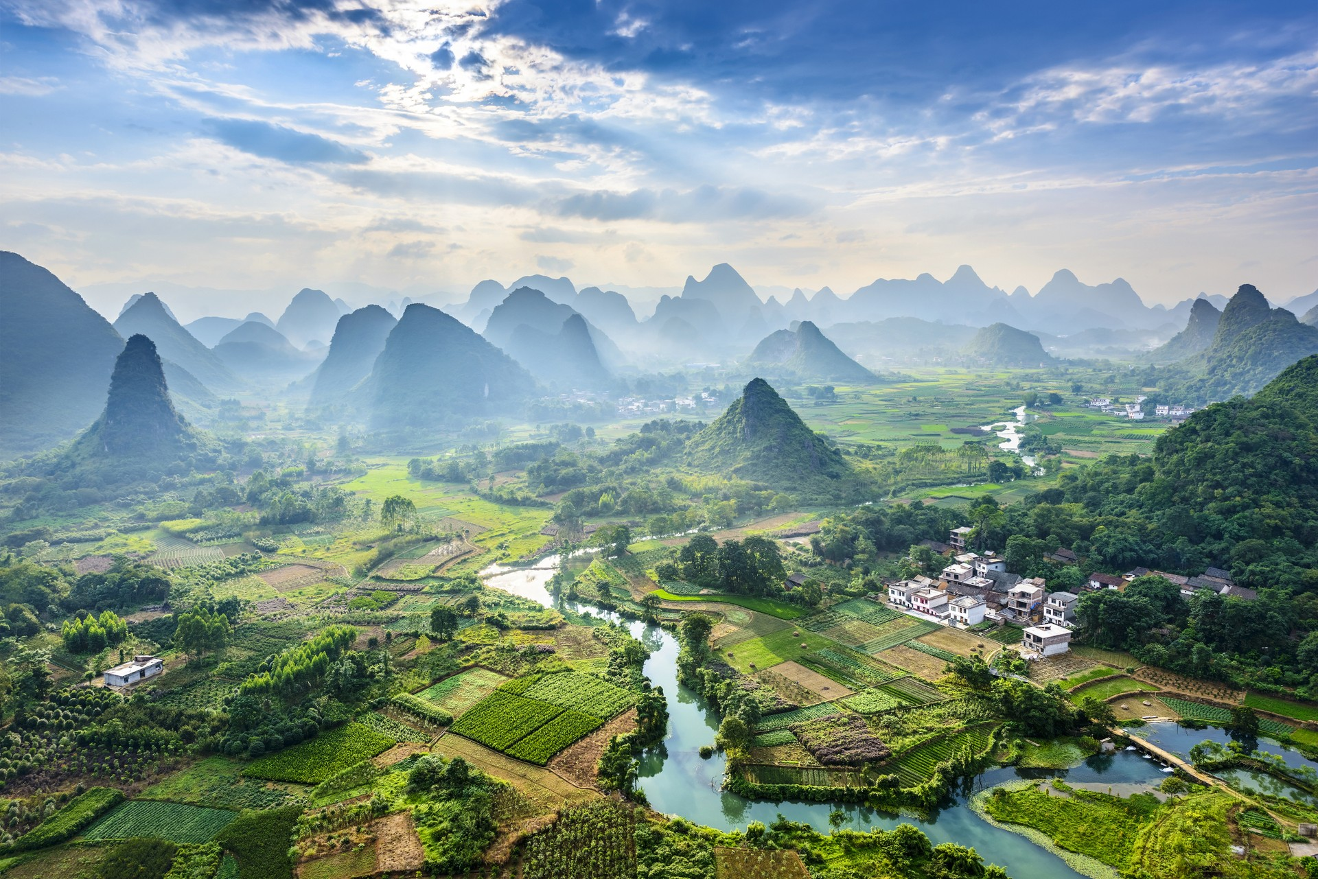 The landscapes of Guilin, China