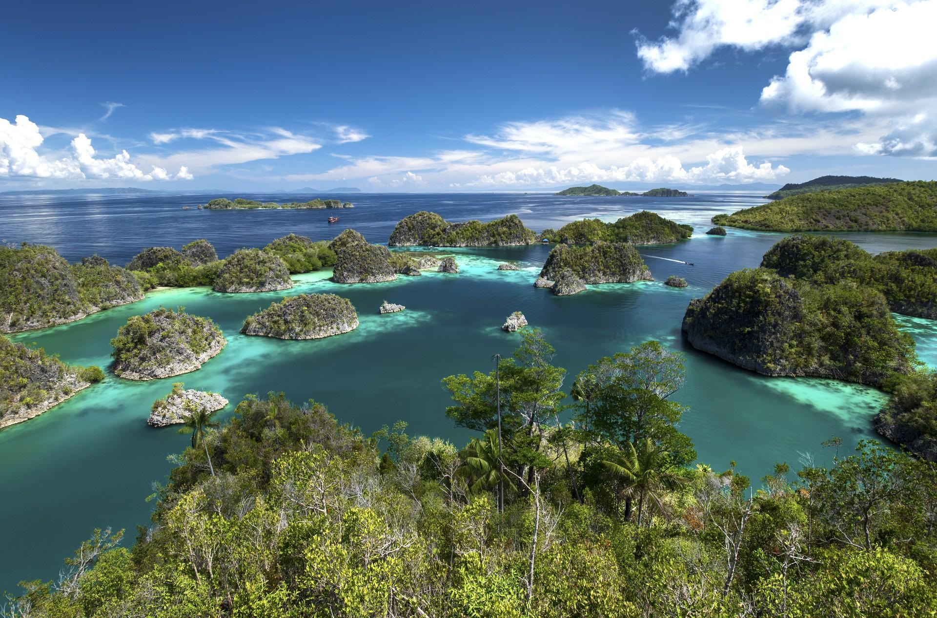 Aerial view of Raja Ampat in Indonesia