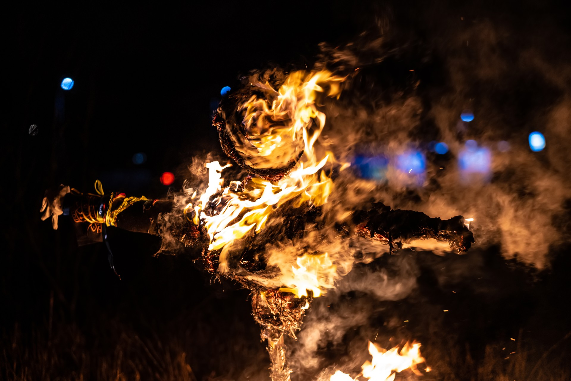 Unique New Year traditions around the world: Scarecrow burning