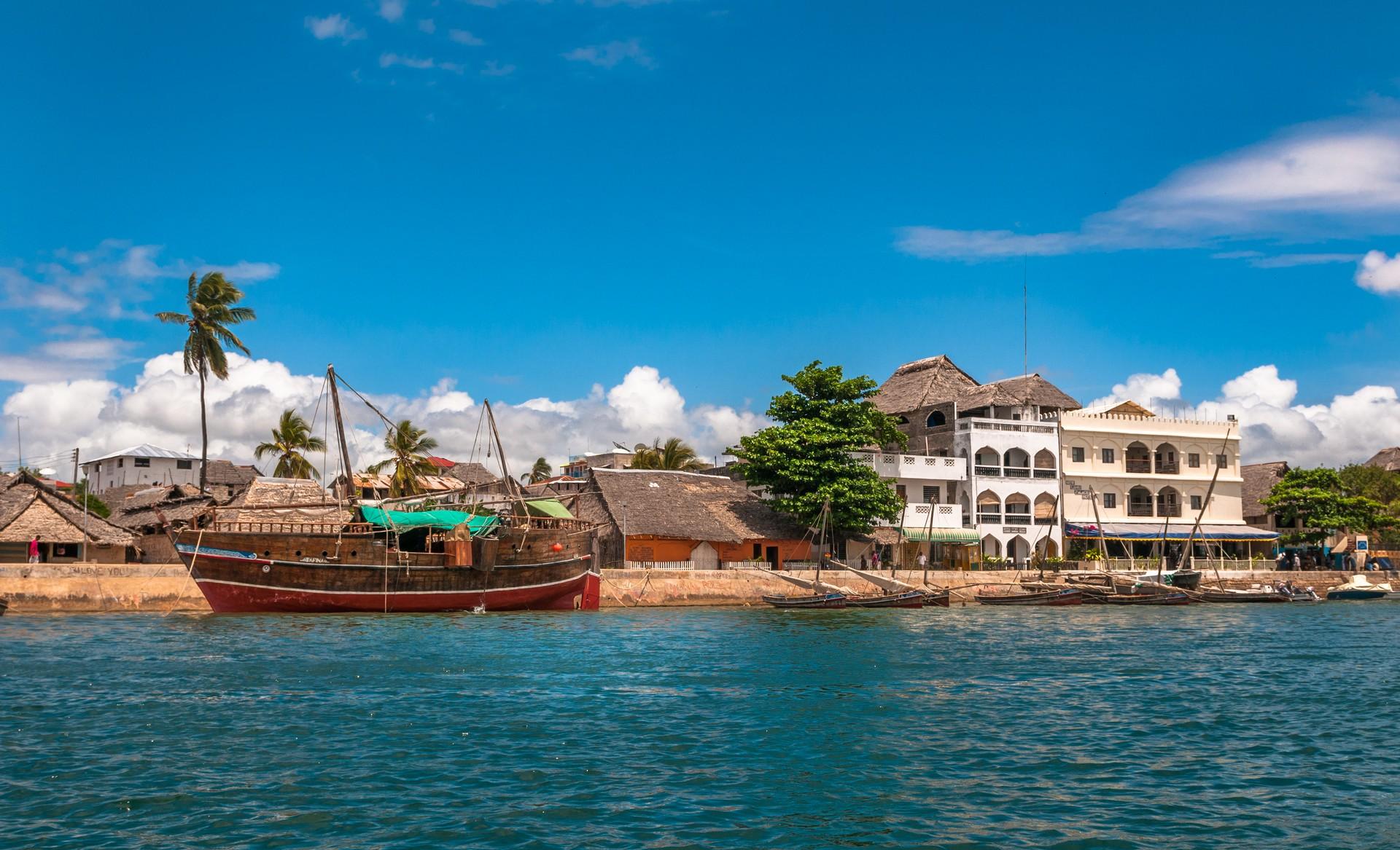 The waterfront on Lamu Archipelago