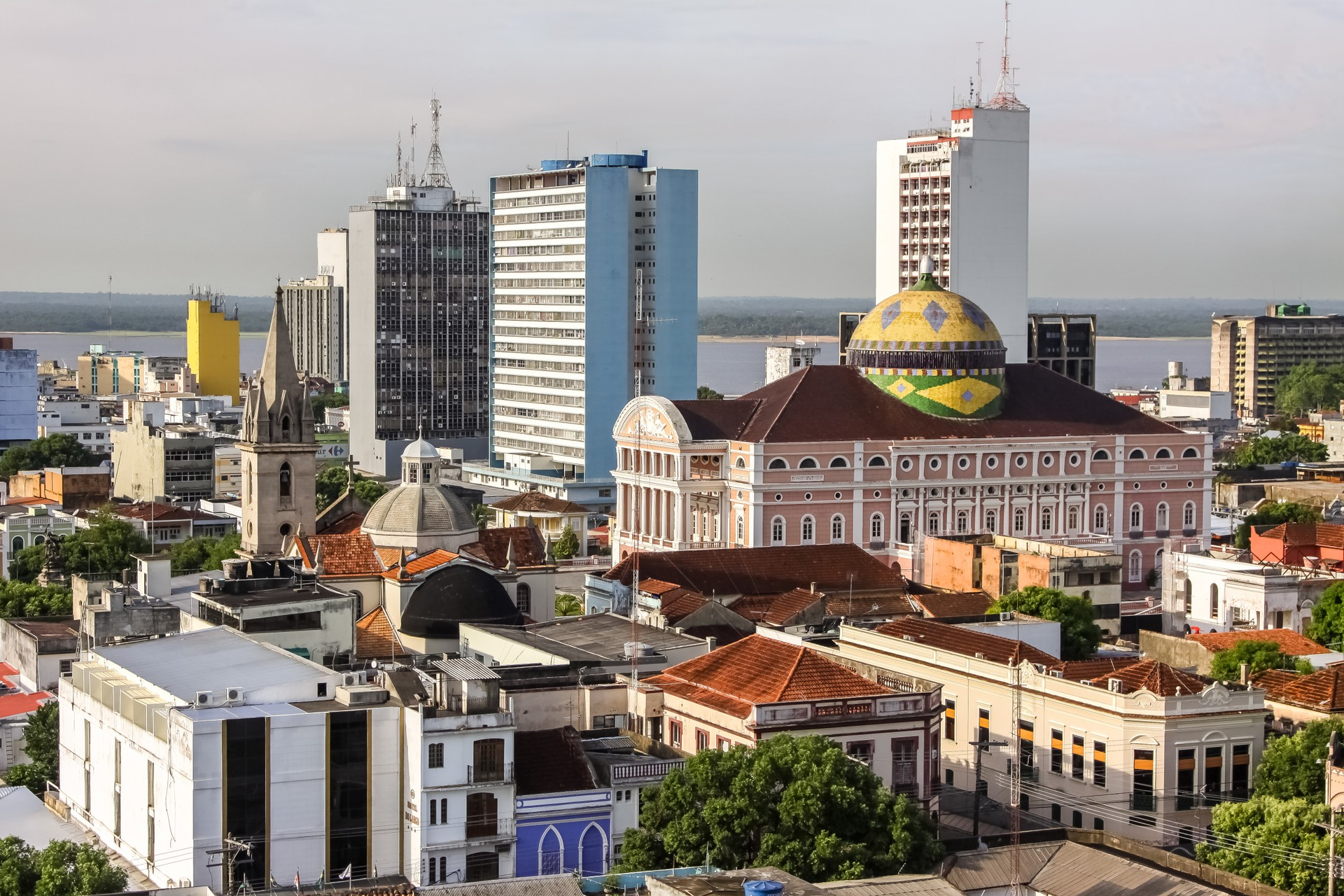 A cityscape of Manaus in Brazil's Amazon region