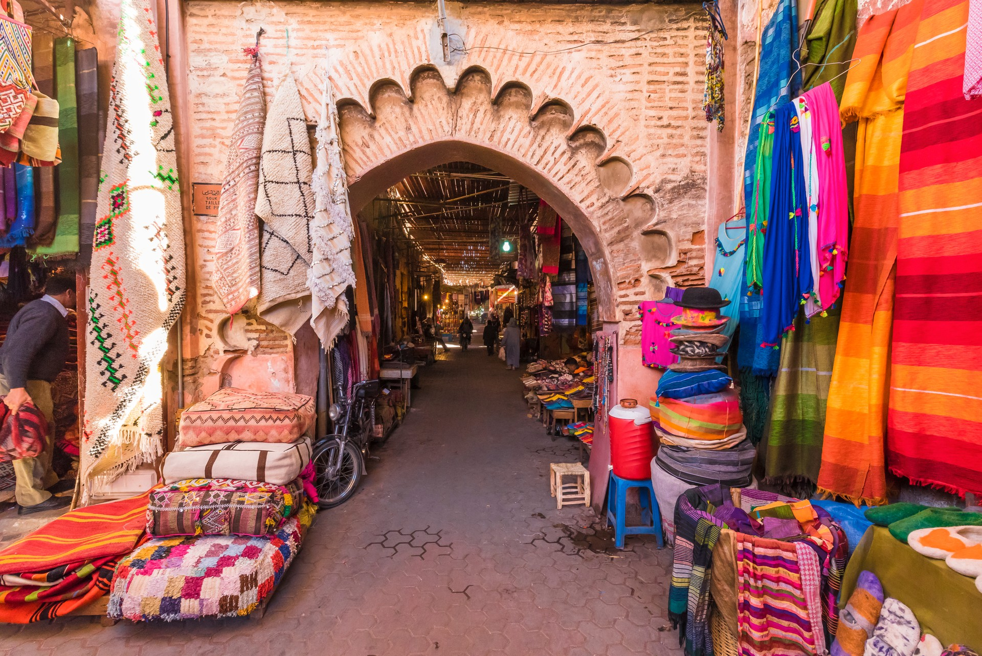 The entrance to an old Arabic souk in Marrakech