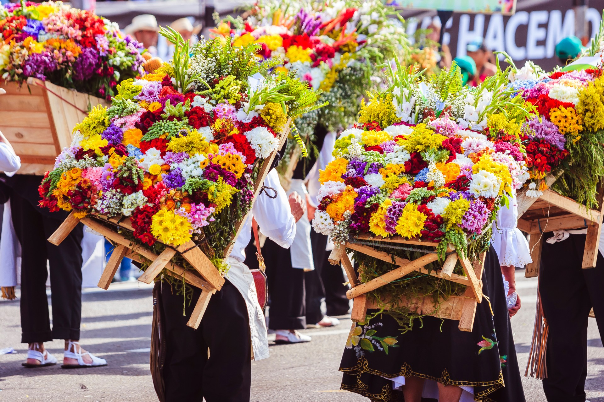 Parade in Medellin's flower festival