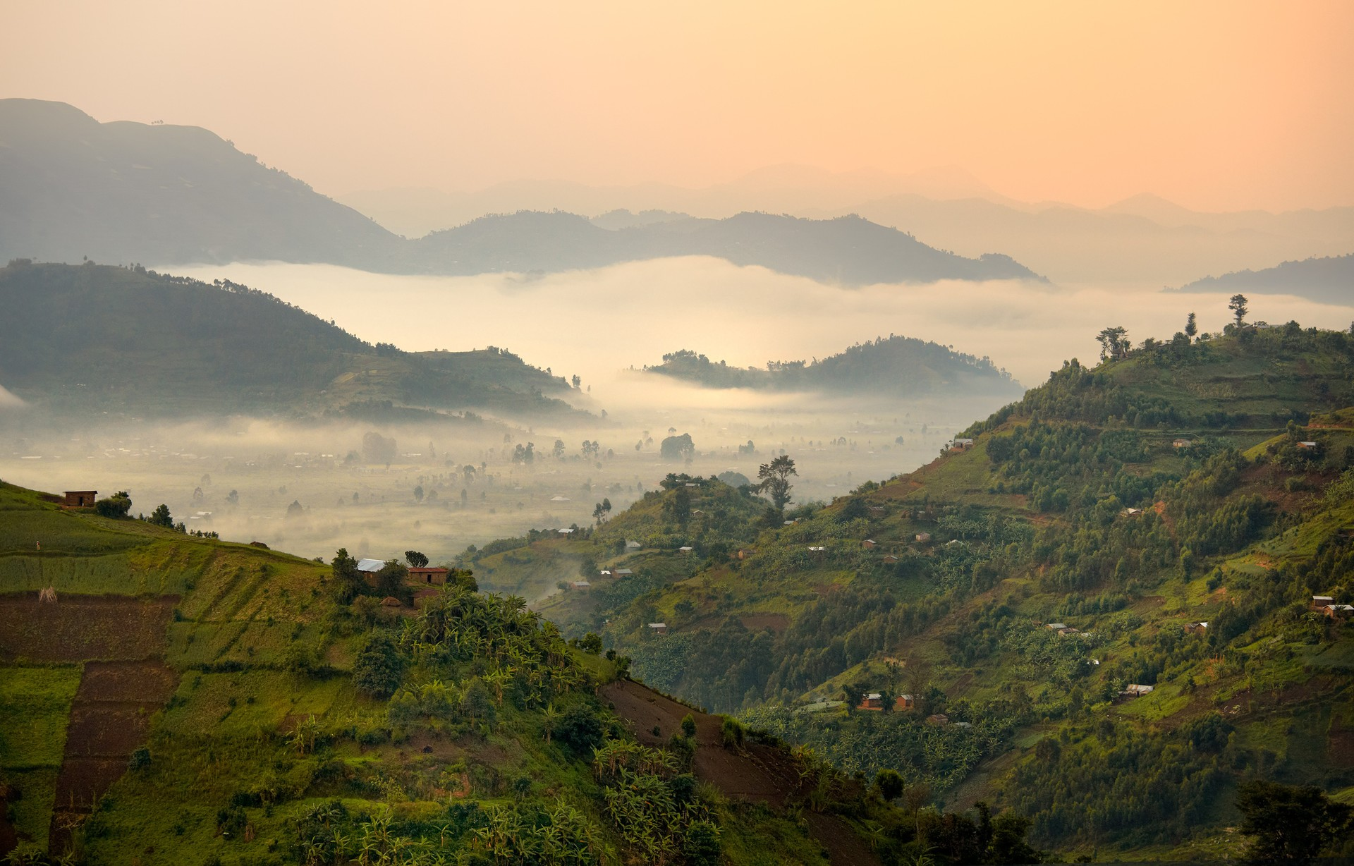 The beautiful landscape of neighbouring Uganda