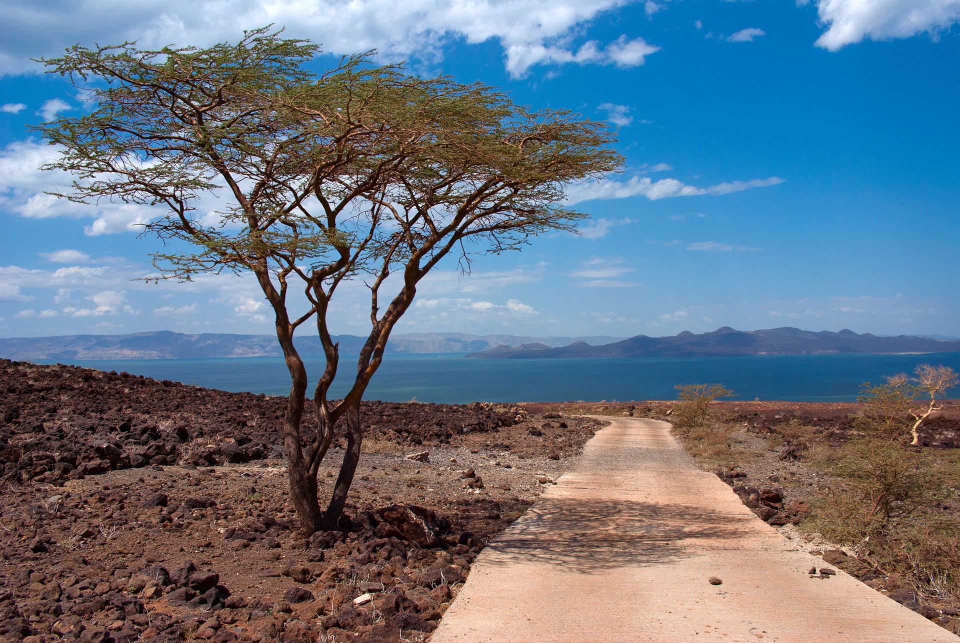 View from road to Lake Turkana