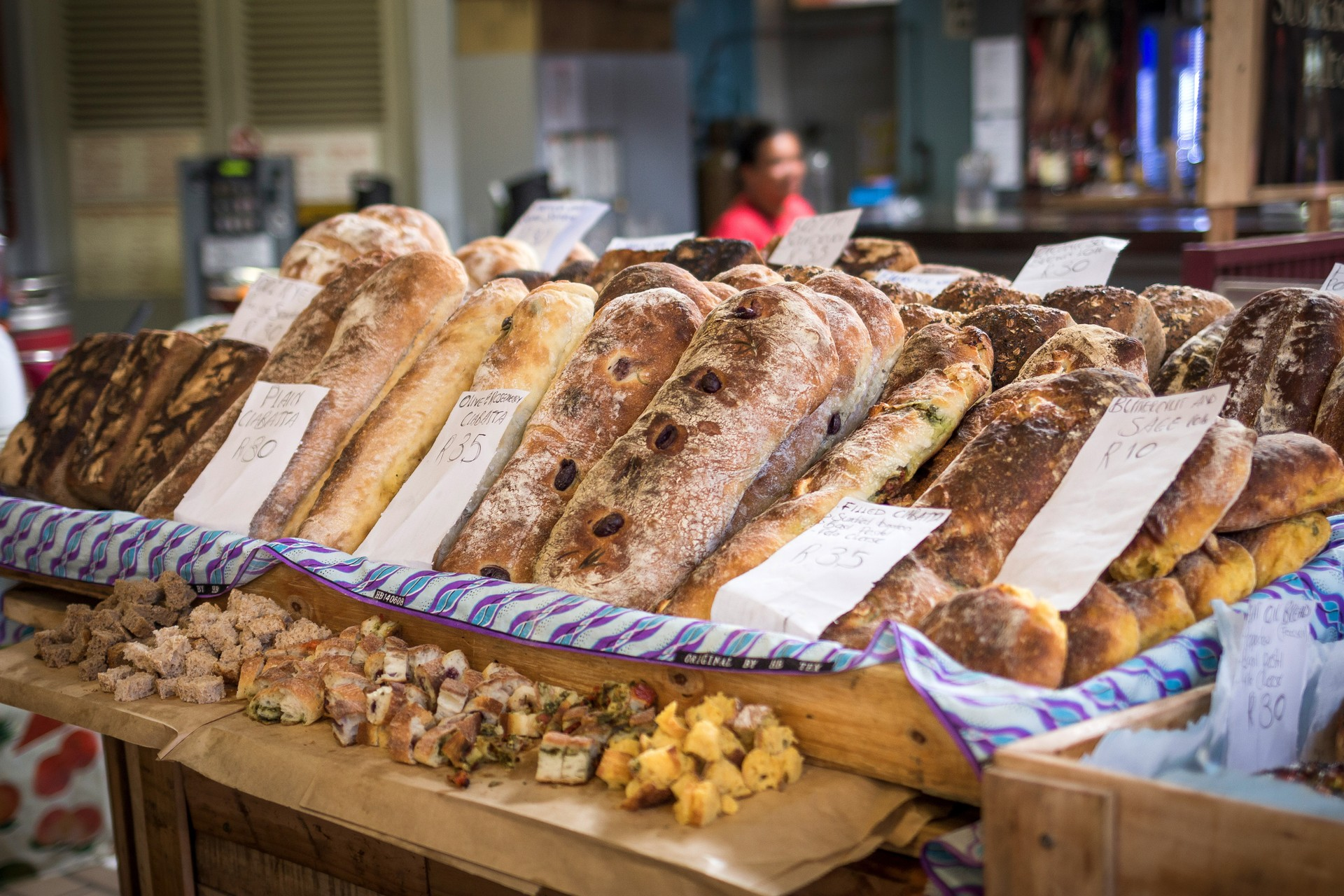 Freshly baked bread at one the bustling Cape Town markets