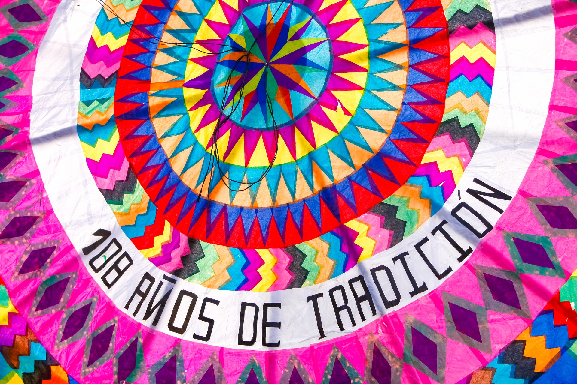 Giant kite in the Festival de Barriletes