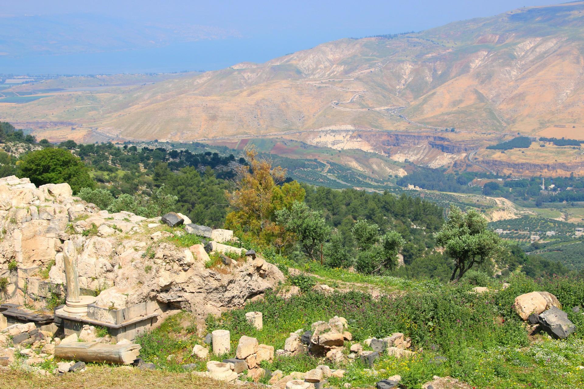 Roman ruins in Gadara Jordan