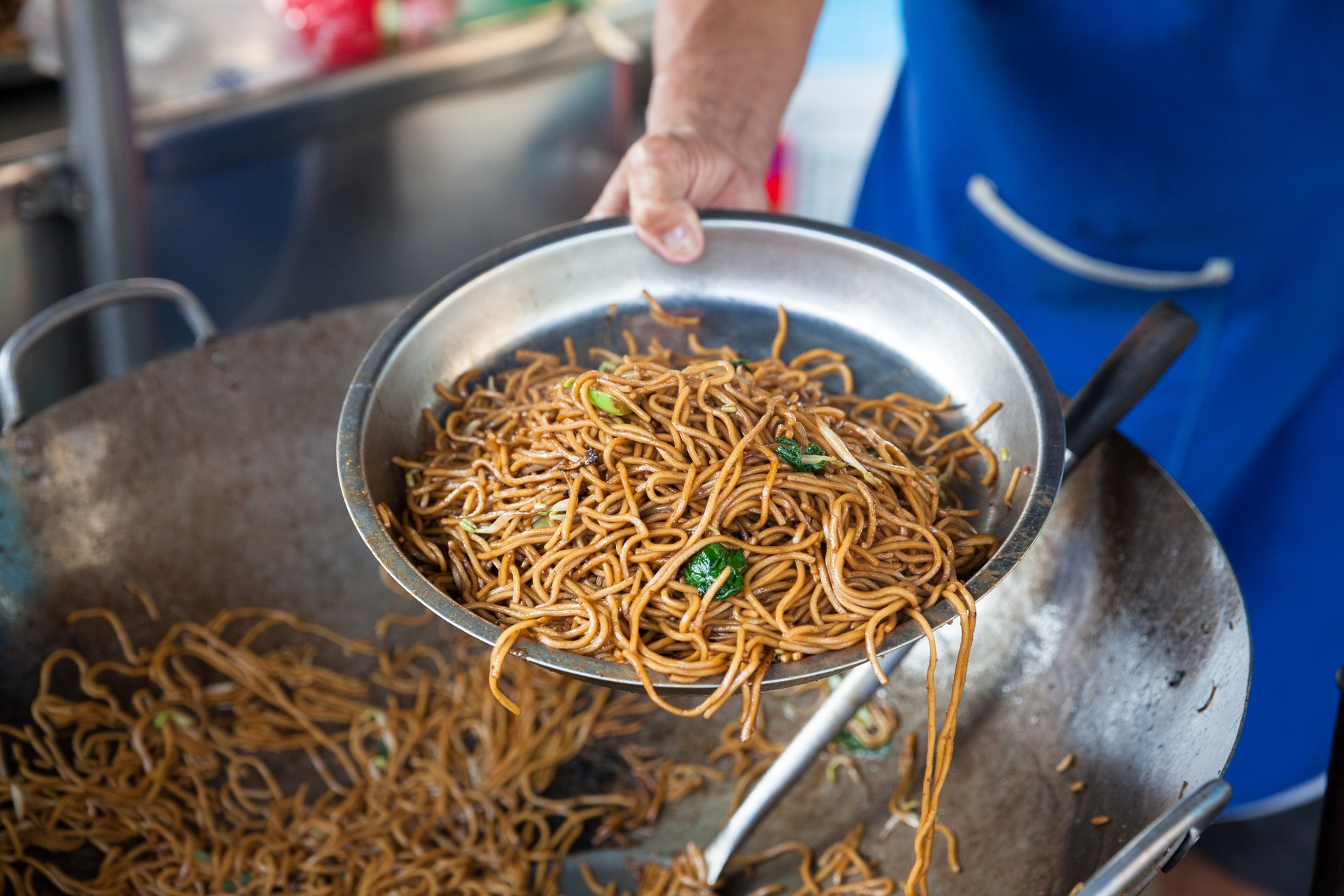 Noodles at a street food stall in Penang