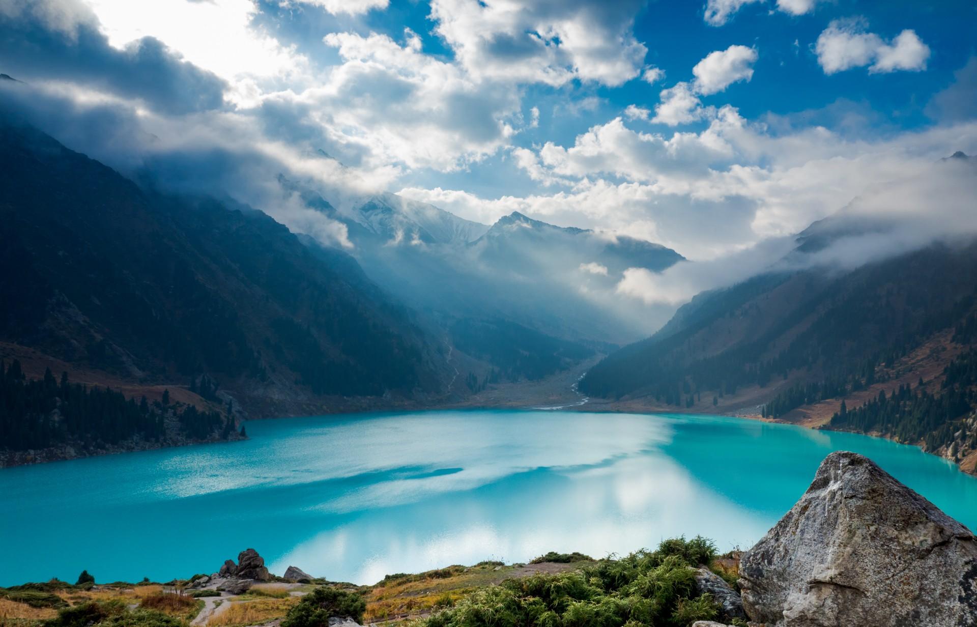 Almaty lake in Tien Shan mountains, Kazakhstan