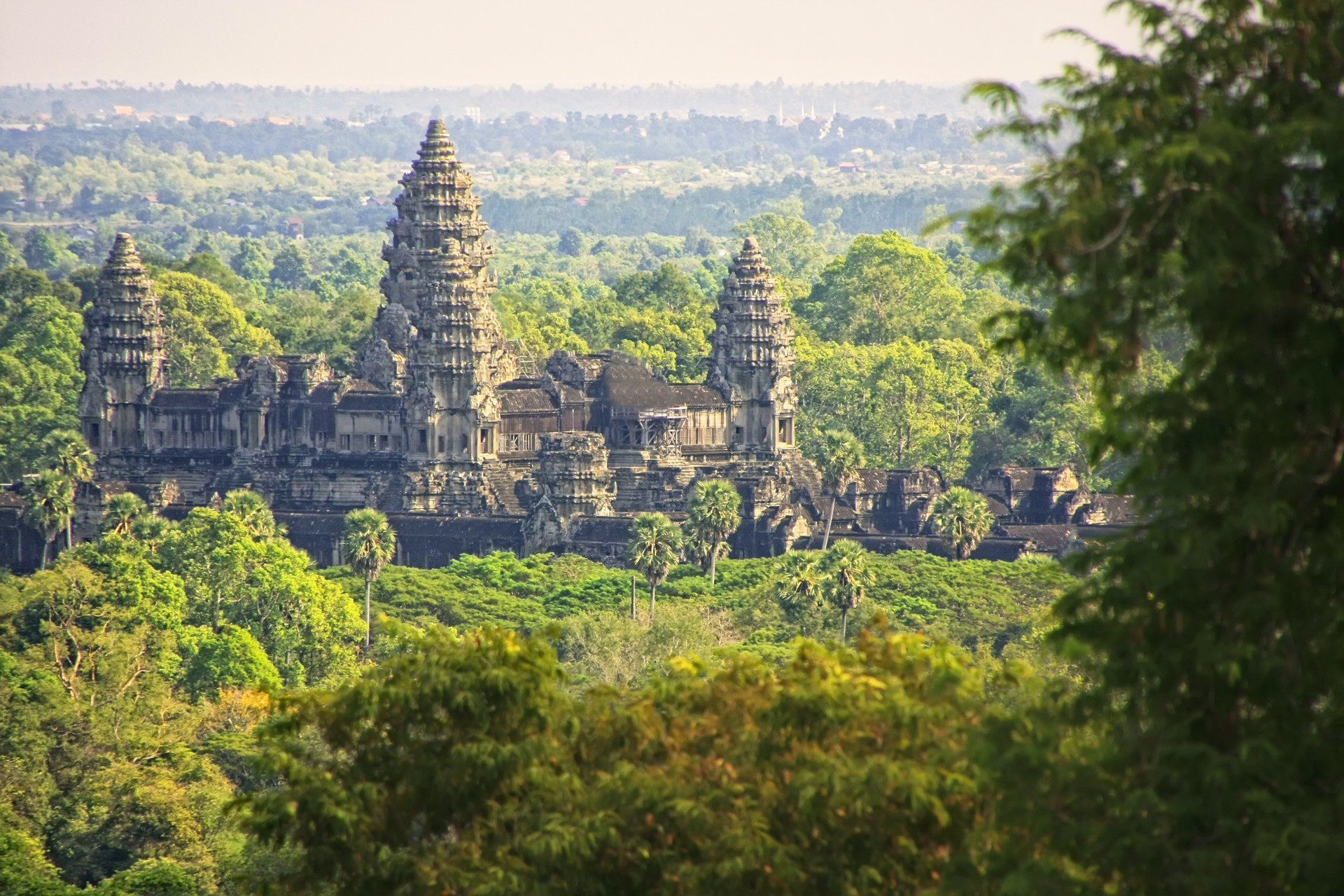 Angkor Wat in the forests of Cambodia