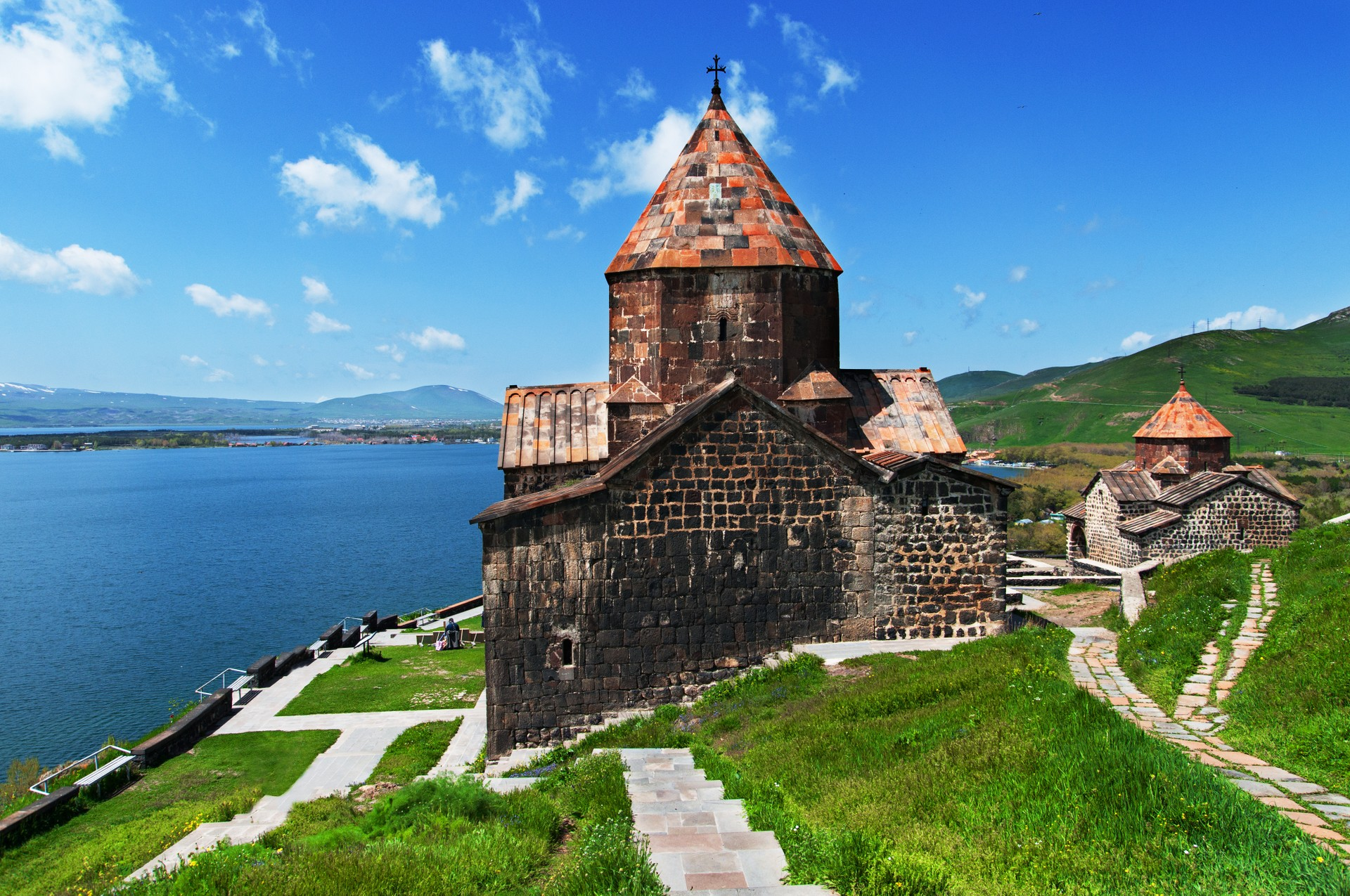 Sevanavank Monastry on the northwestern side of Lake Sevan