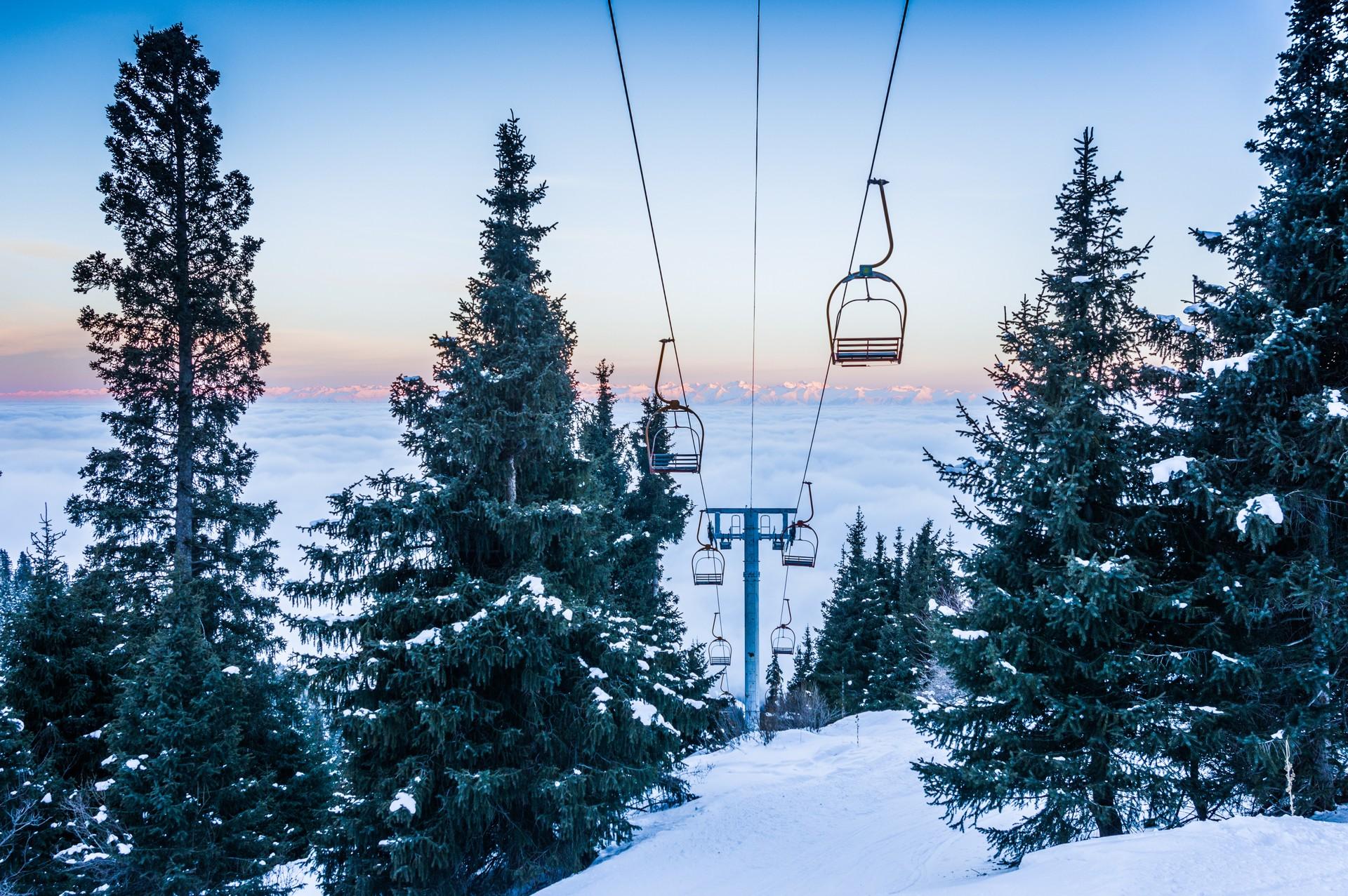 Ski lift in Kyrgyzstan