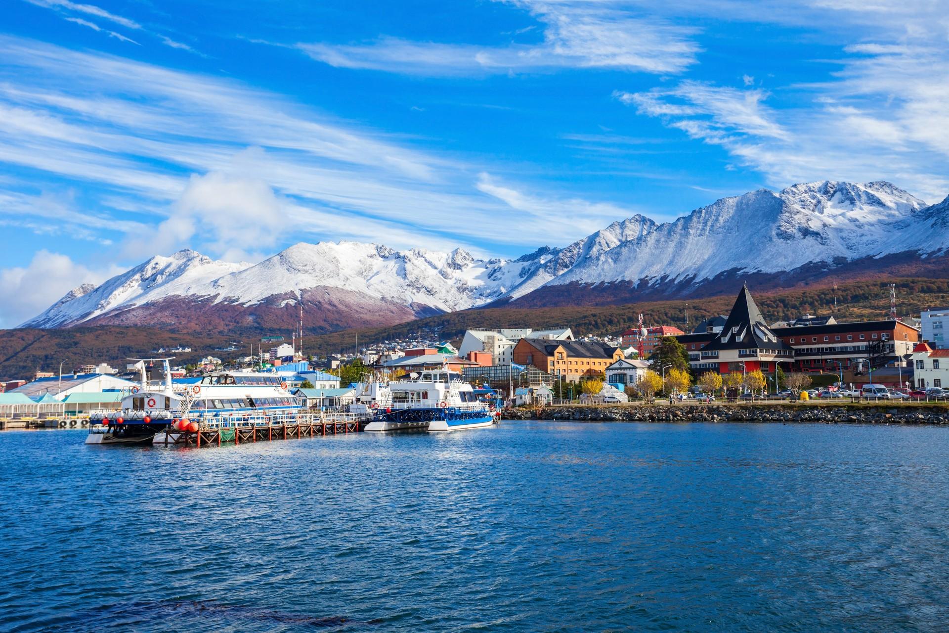 Ushuaia harbour Tierro del Fuego Argentina