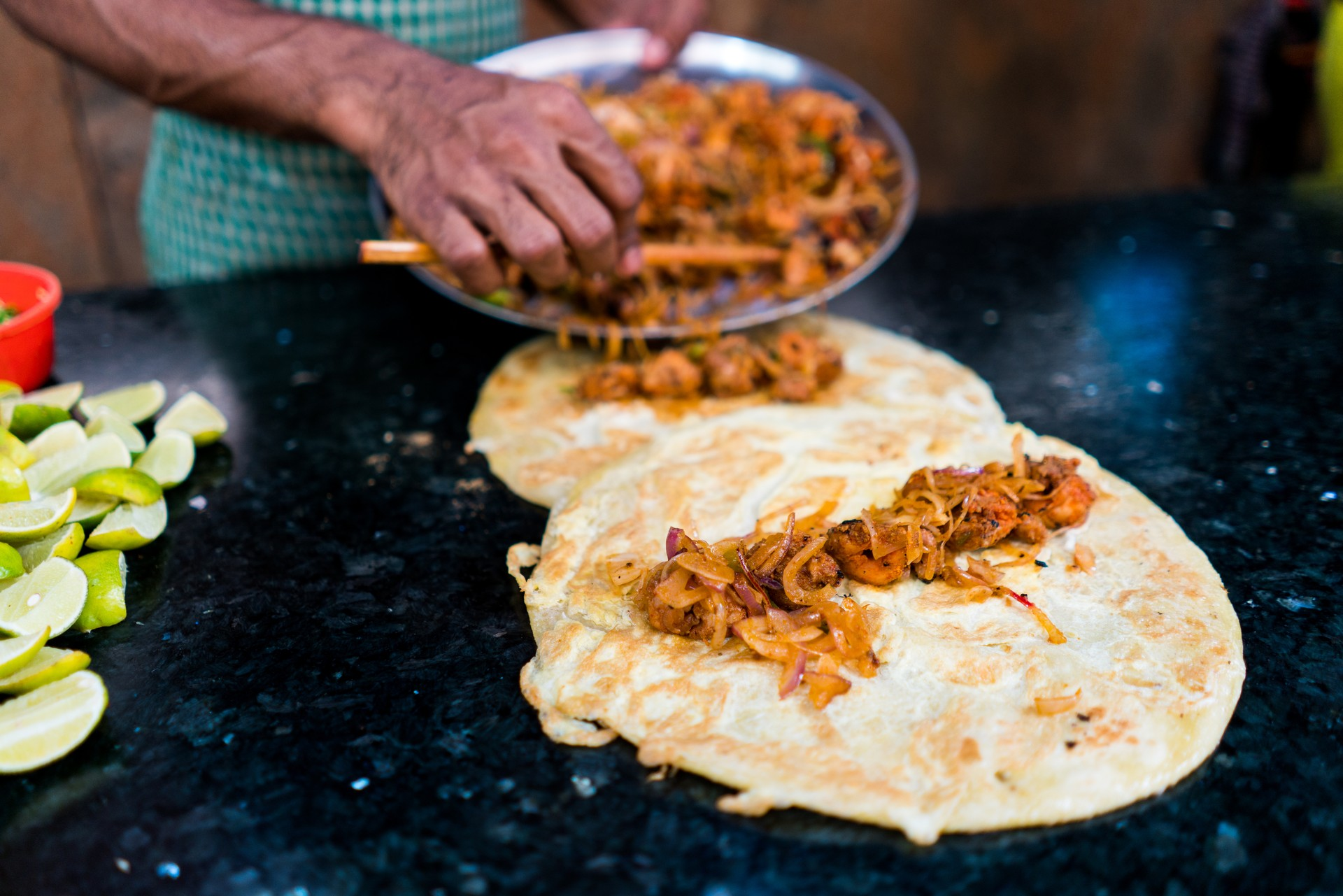 India food tour - Kathi rolls