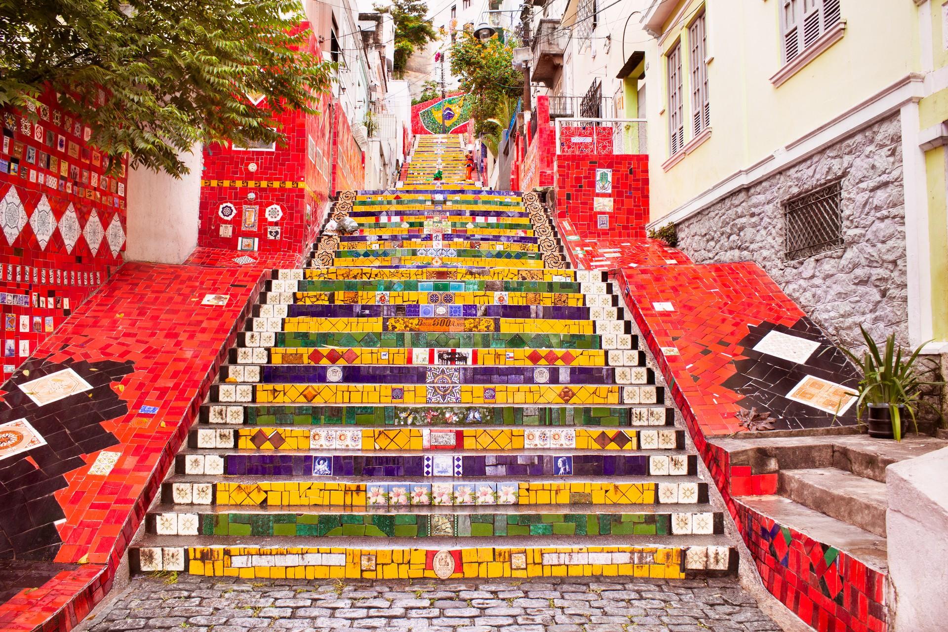 The colourful steps in Rio de Janeiro, Brazil