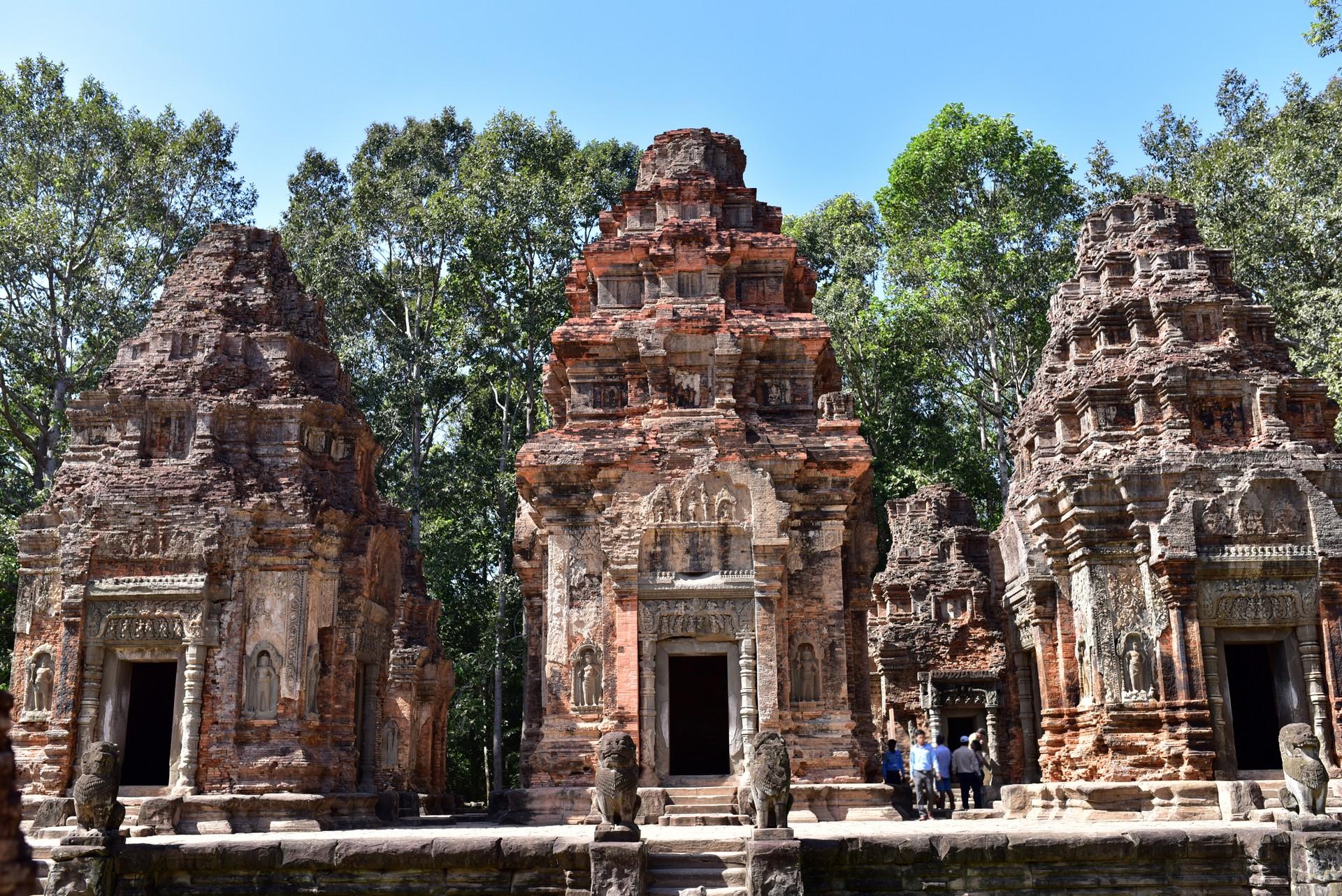 Roluos temples in cambodia