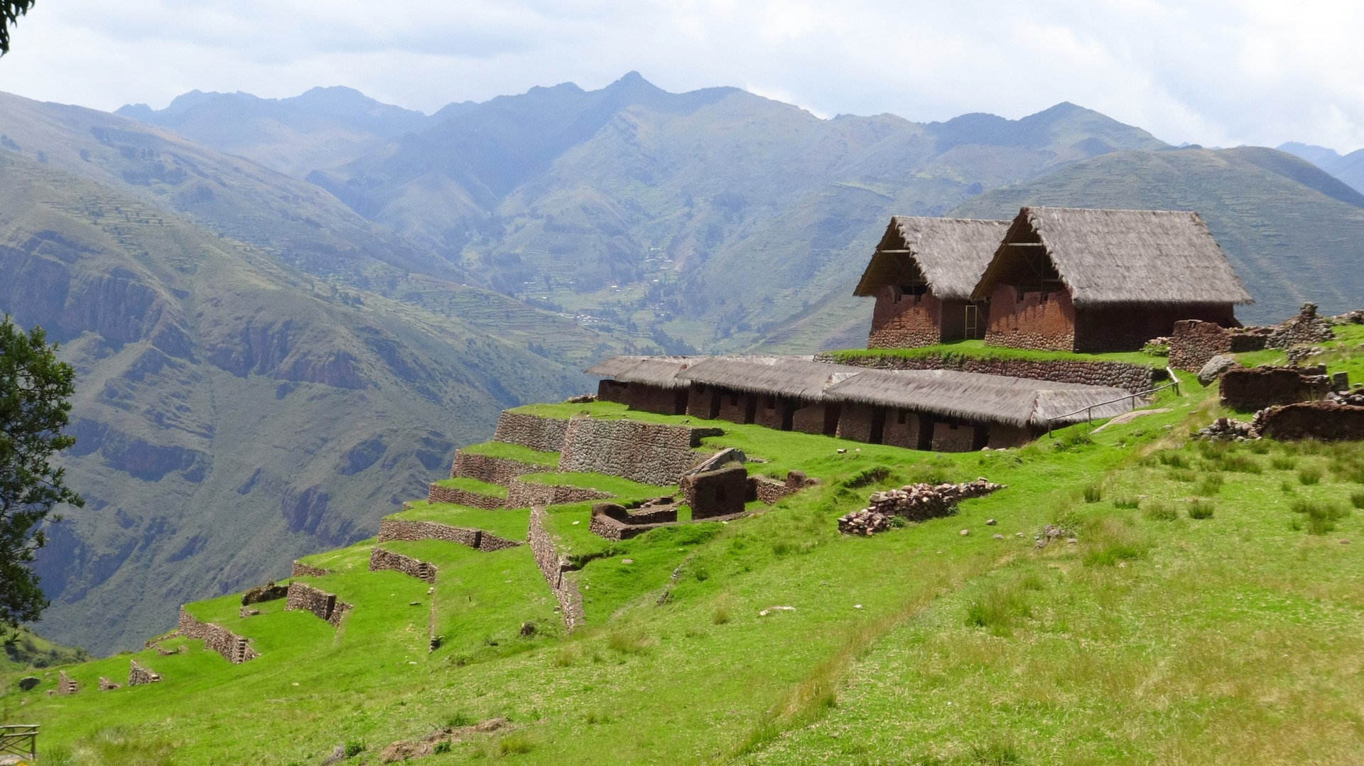 The hike to Huchuy Qosqo, otherwise known as Little Cusco, in the Sacred Valley, Peru