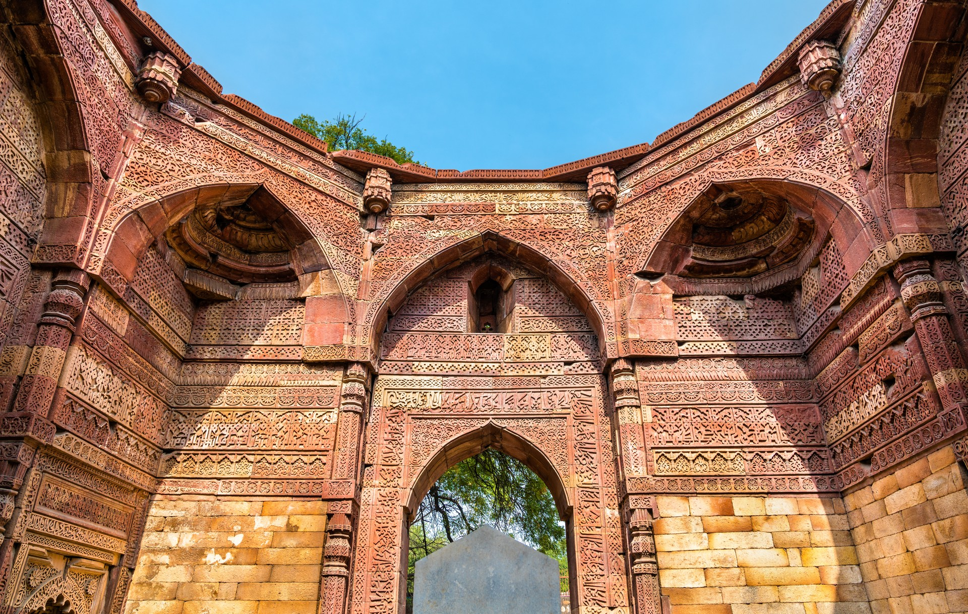 The ancient tomb of Iltutmish, 13th century Sultan of Delhi