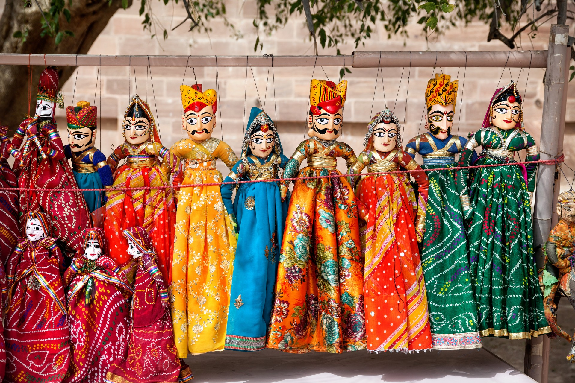 Traditional Rajasthani painted puppets