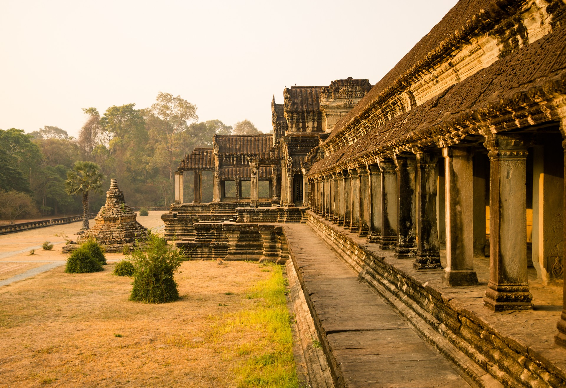 Sun rise at Angkor Wat temple in Siem Reap, Cambodia