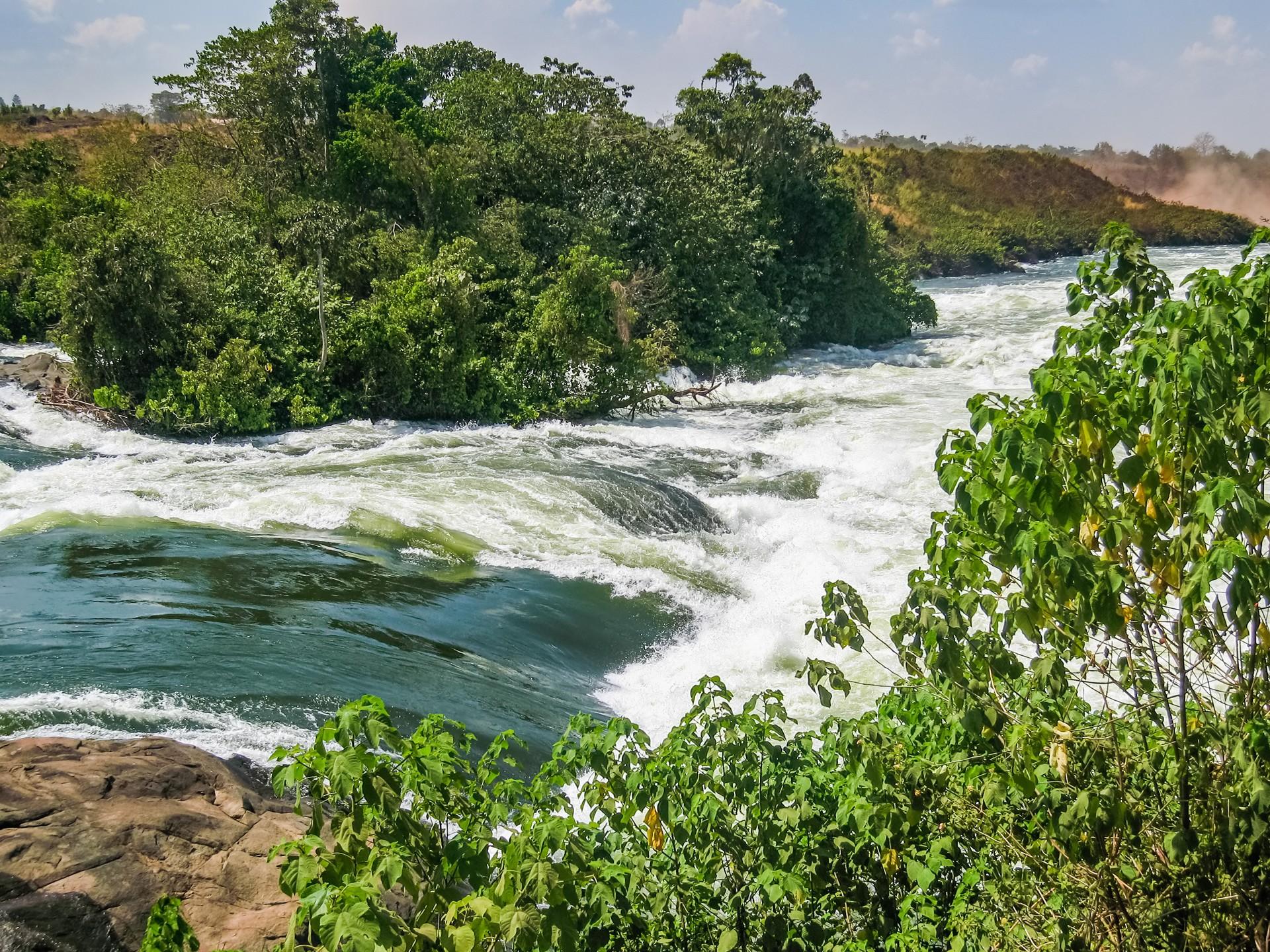 The River Nile rapids in Jinja, Uganda