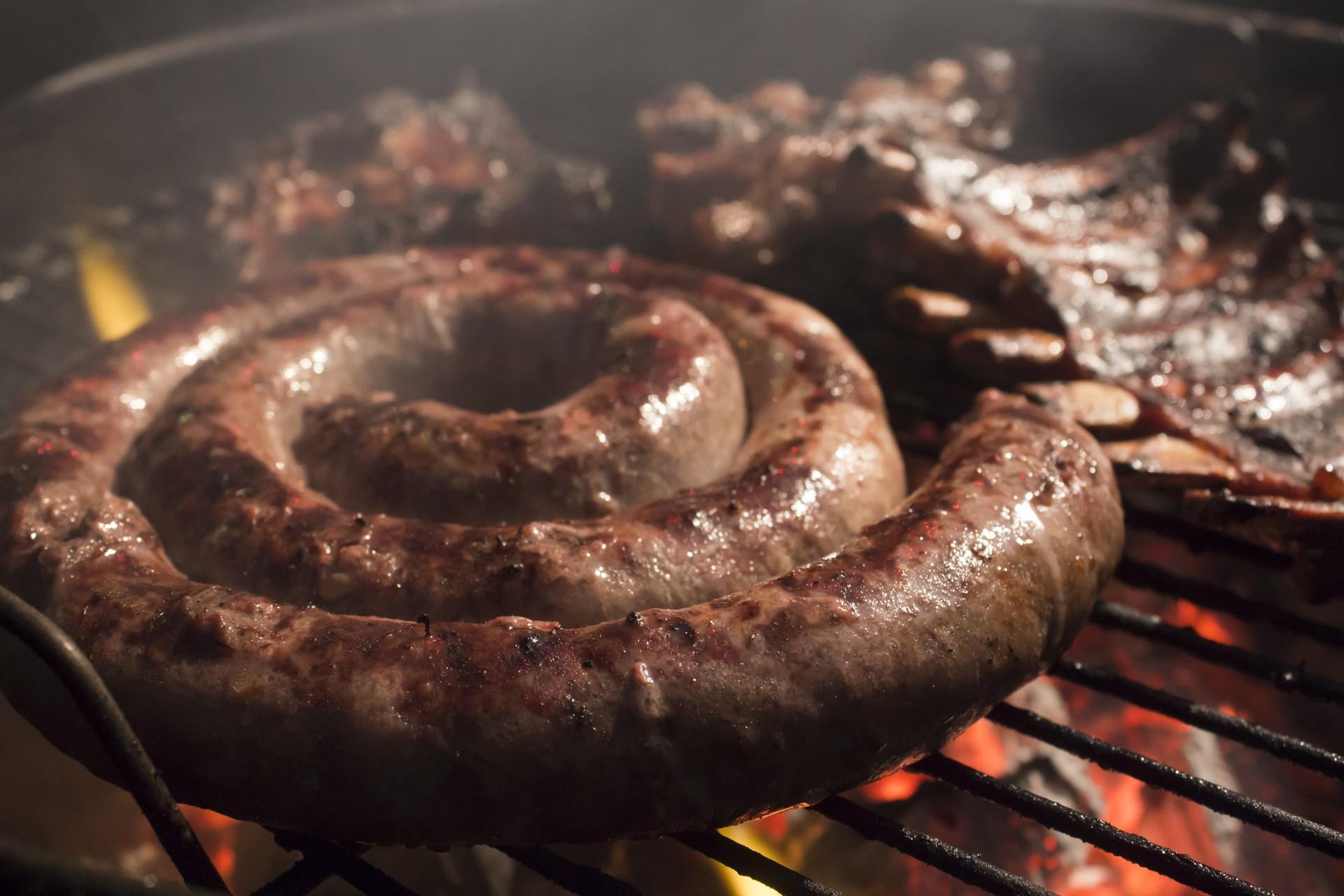 South Africa food tour - Braai boerewurs