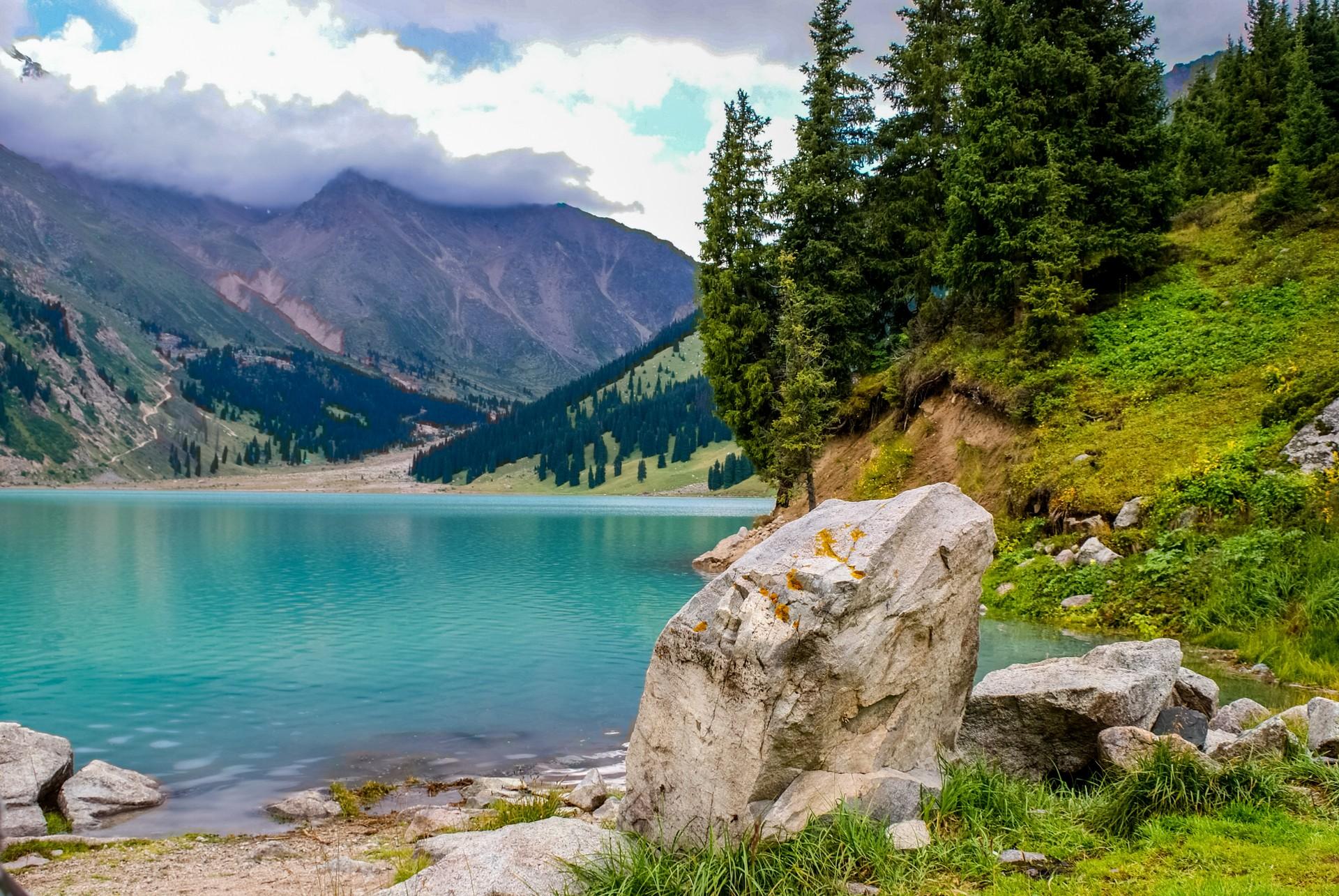 Almaty Lake in the Tien Shan Mountains, Kazakhstan