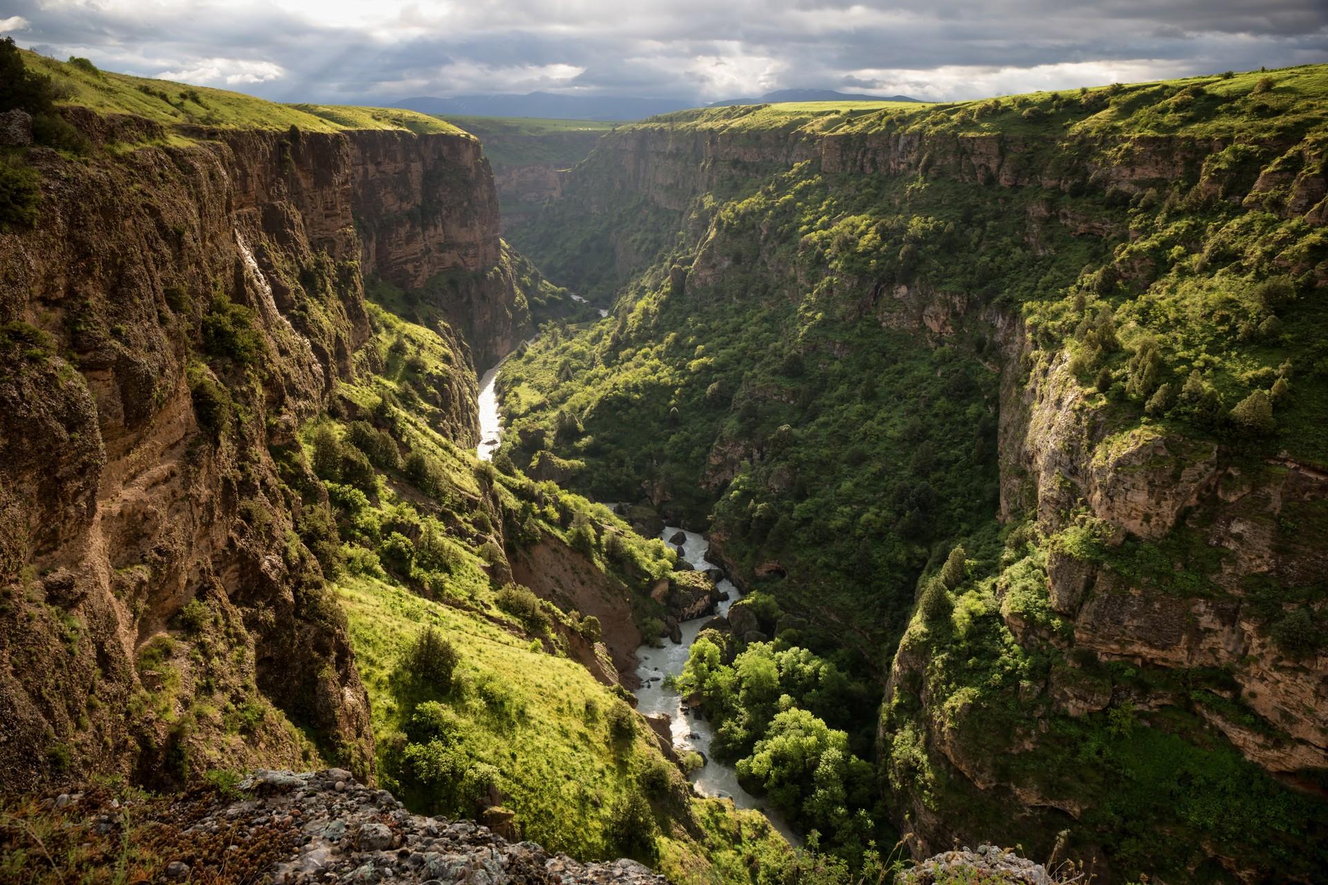 Aksu river canyon in Kazakhstan