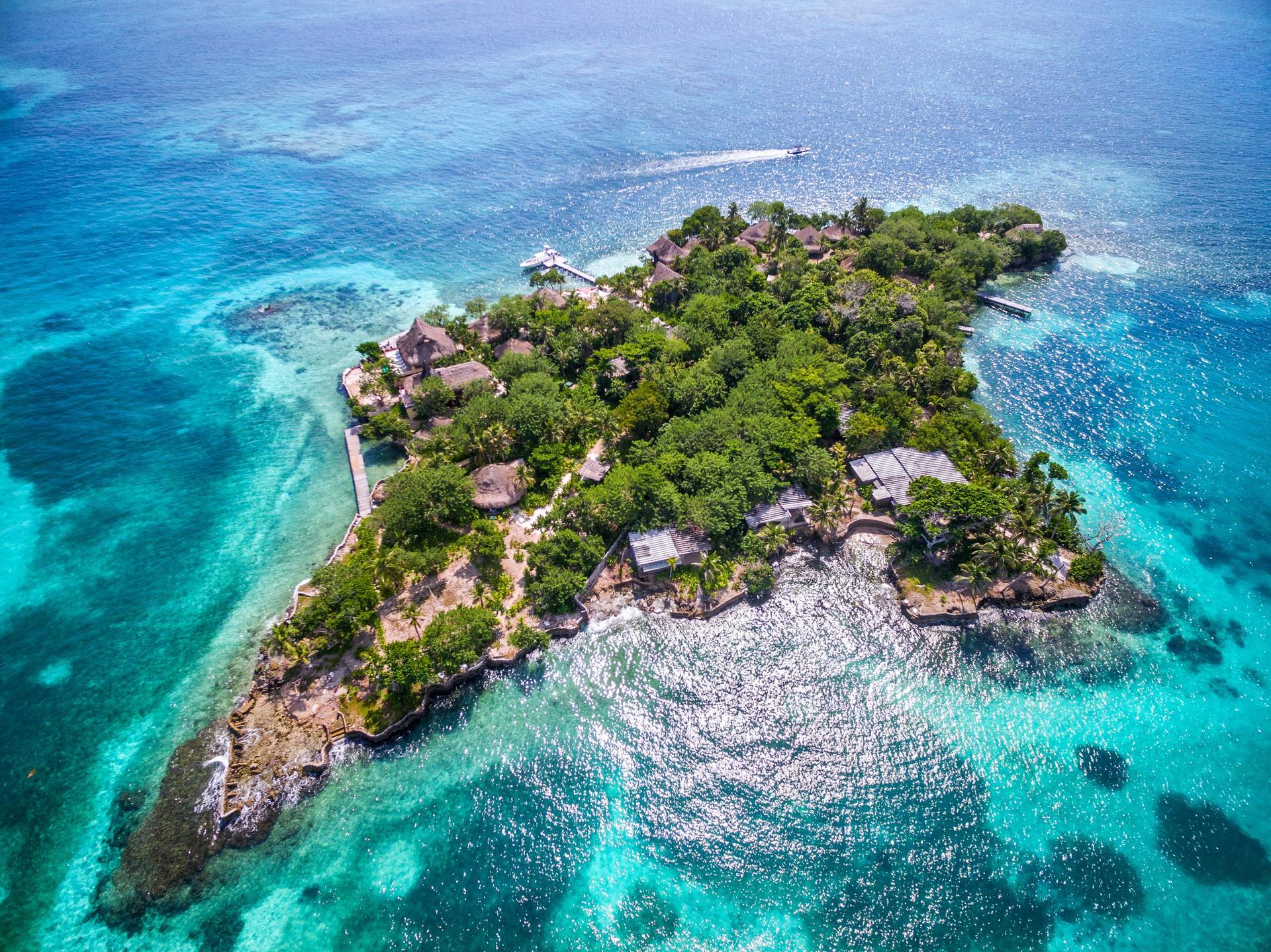 Rosario islands in Colombia
