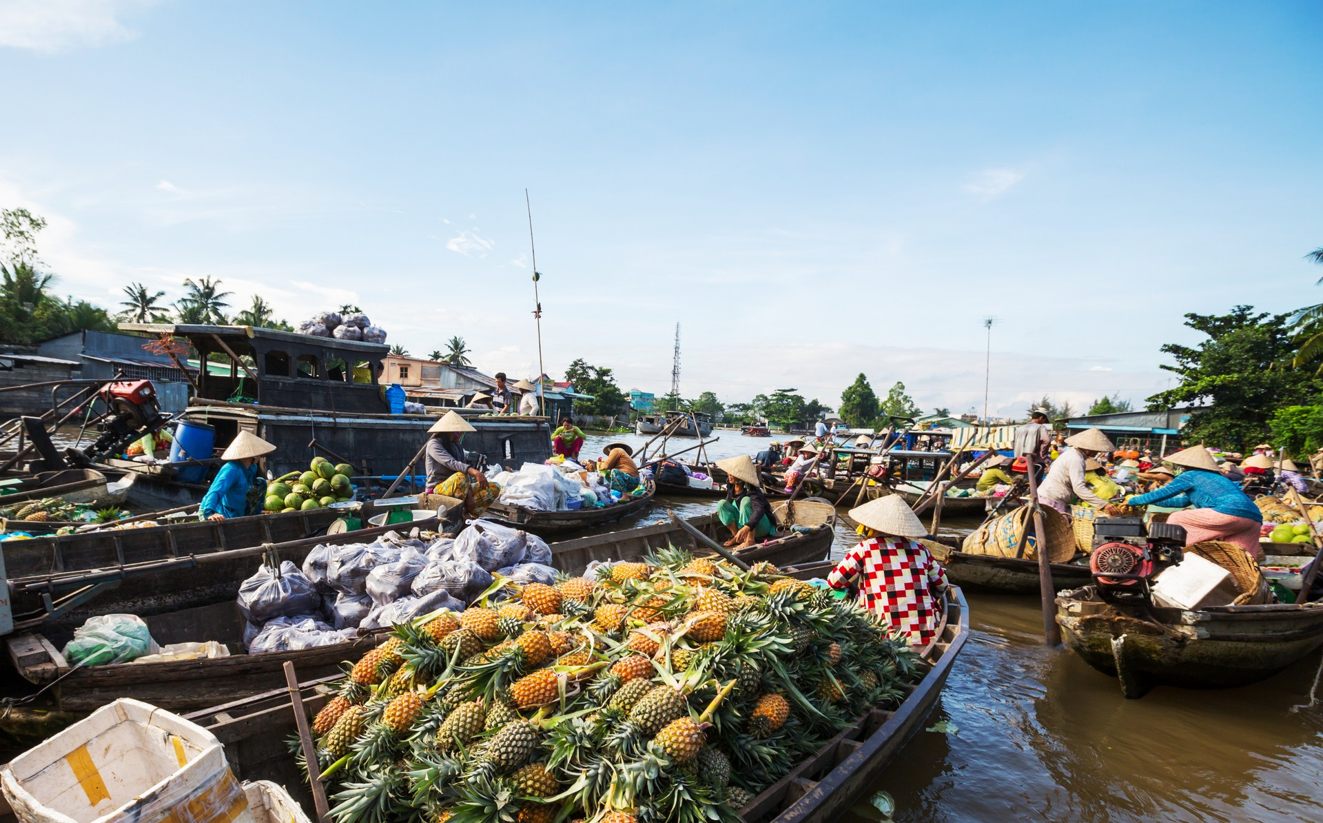 Cai Rang floating market in Vietnam