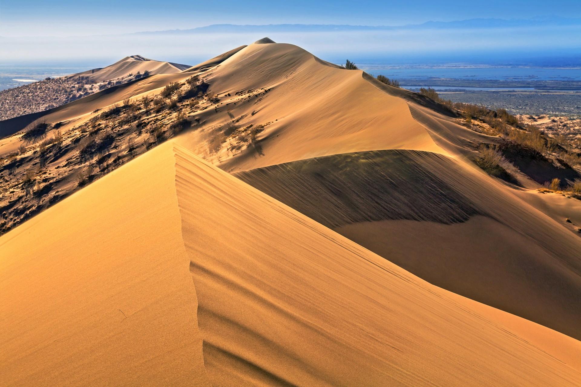 Singing sand dune in Kazakhstan